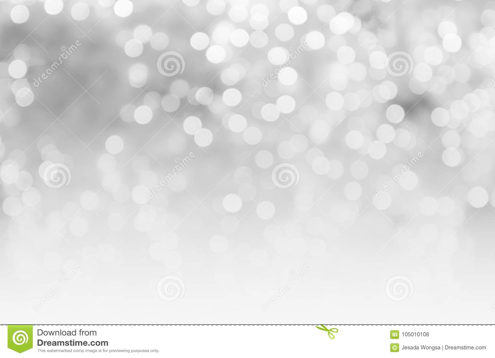 El extracto empañó las luces borrosas brillantes del bokeh del fondo del concepto del espacio gris y blanco de la copia, fondo de
