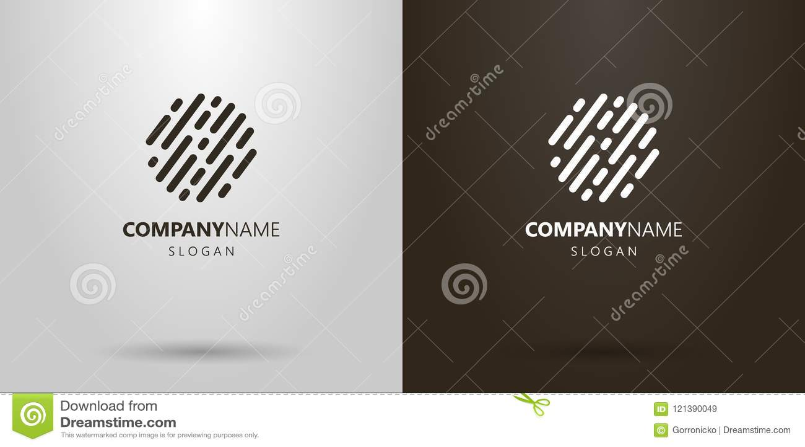 El extracto simple del vector redondeado alinea el logotipo
