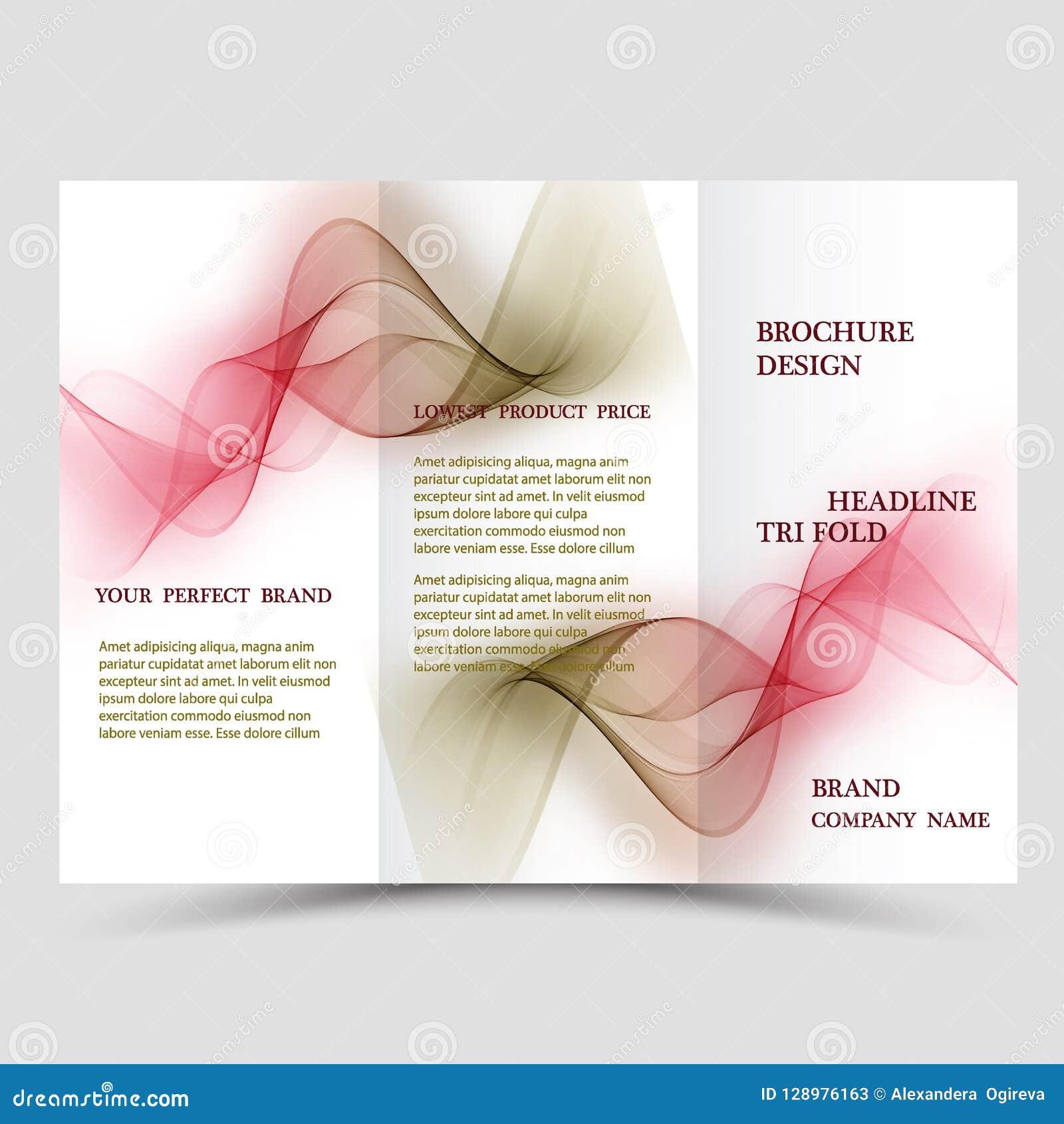 El extracto tres dobla la plantilla del folleto, disposición de diseño del aviador con el fondo poligonal verde y azul del eco