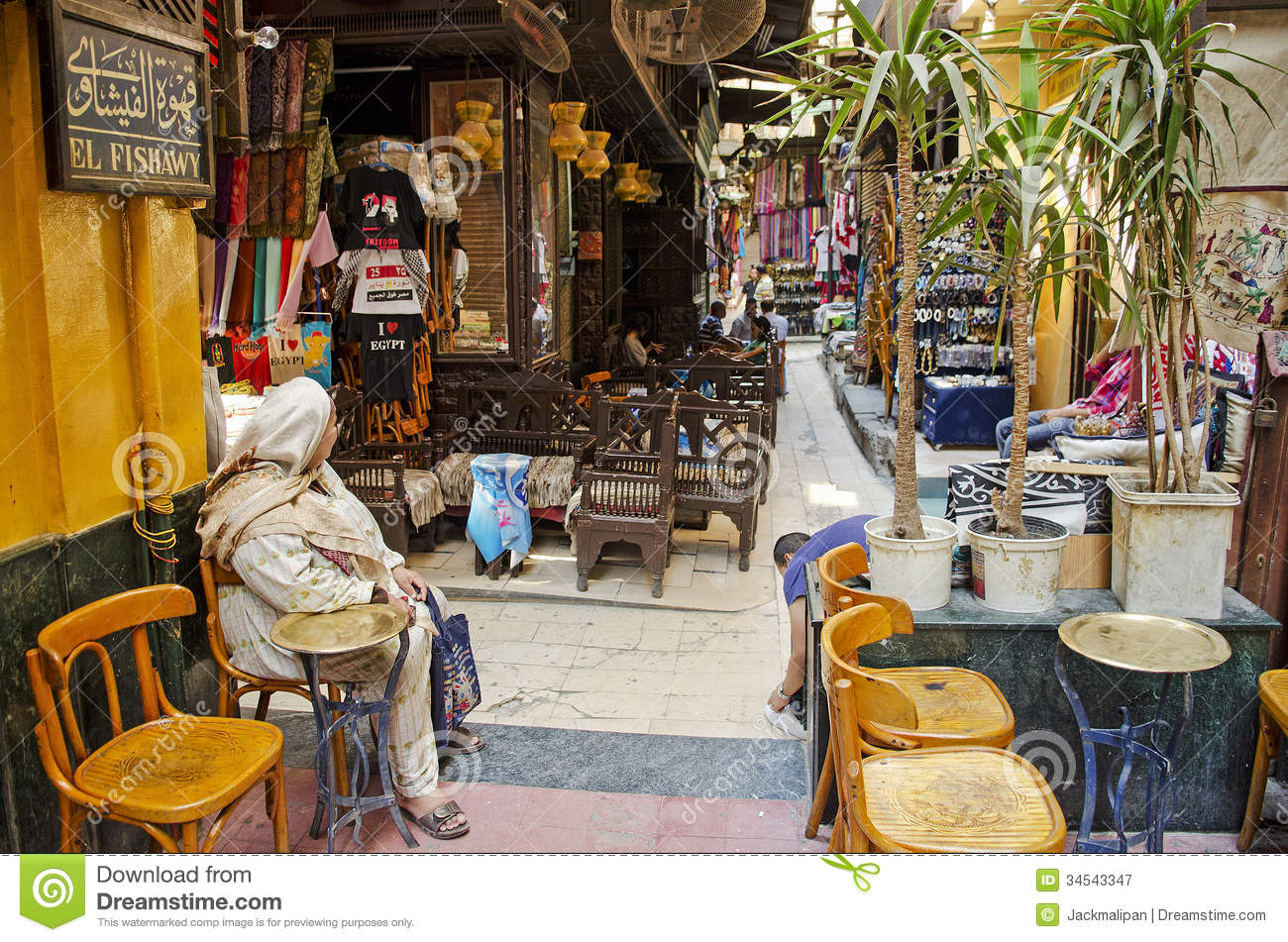 El fishawy cafe in cairo souk egypt editorial photography for Shopping in cairo