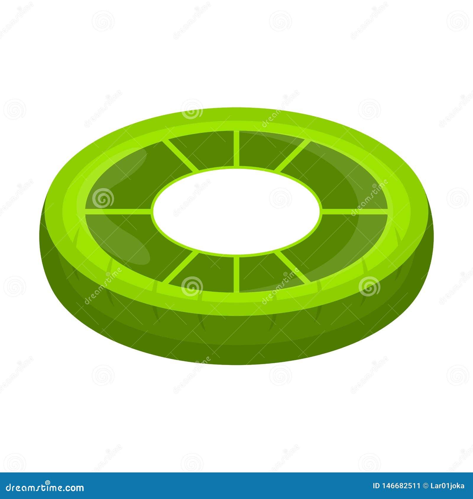 El flotador aislado de la piscina formó imagen del limón