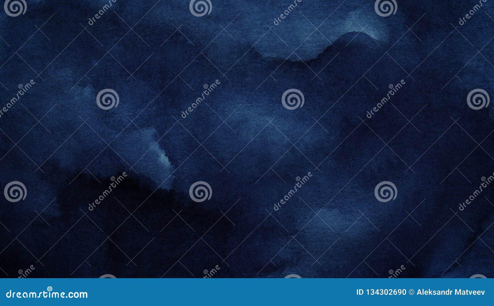 El fondo abstracto azul azul de la acuarela para los fondos de las texturas y las banderas de la web diseñan