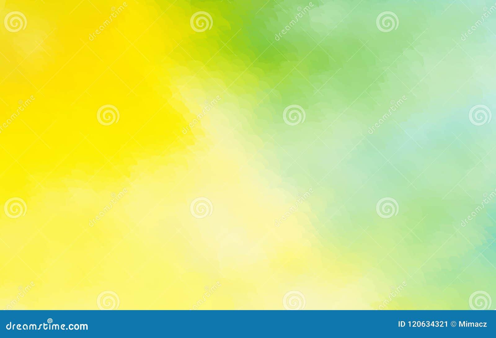 El fondo abstracto de la acuarela del verde amarillo punteó el desig gráfico