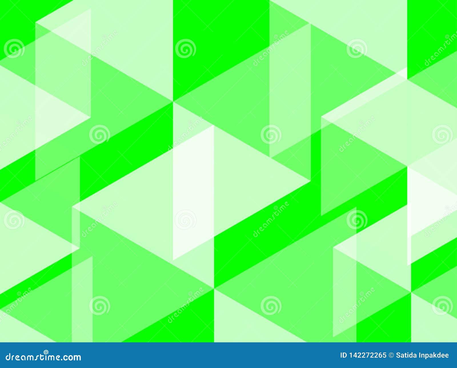 El fondo abstracto del hexágono y del polígono en verde del colorbright del verde del UFO evoca campos enormes