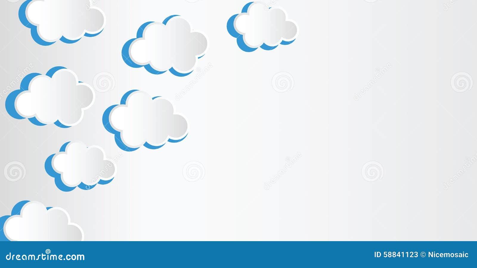 El fondo abstracto integrado por el Libro Blanco se nubla sobre azul