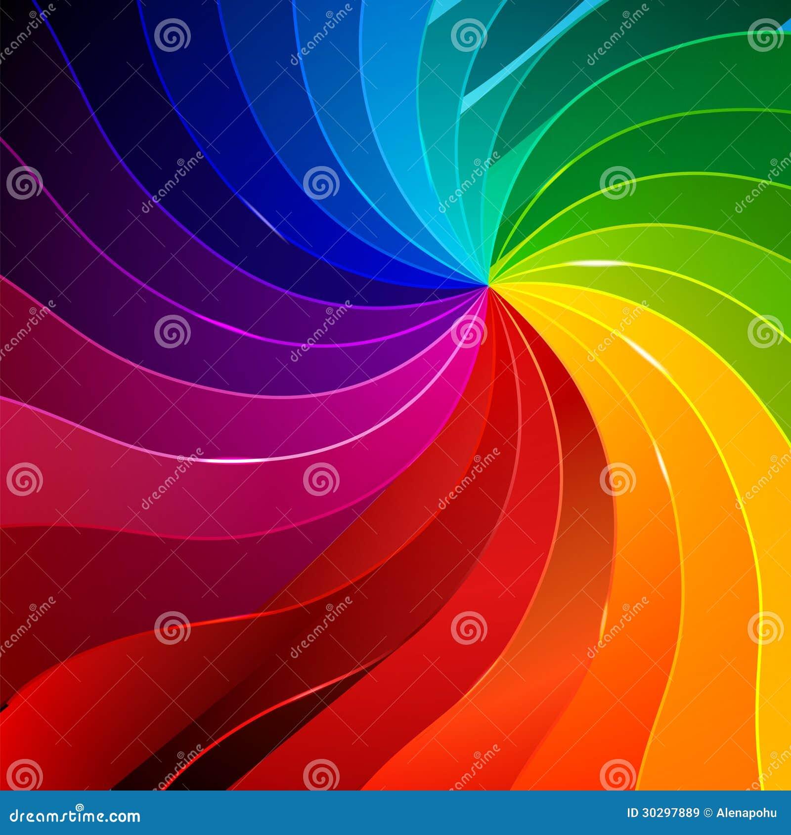 El Fondo Colorido Con El Libro Pagina El Arco Iris Ilustración del ...