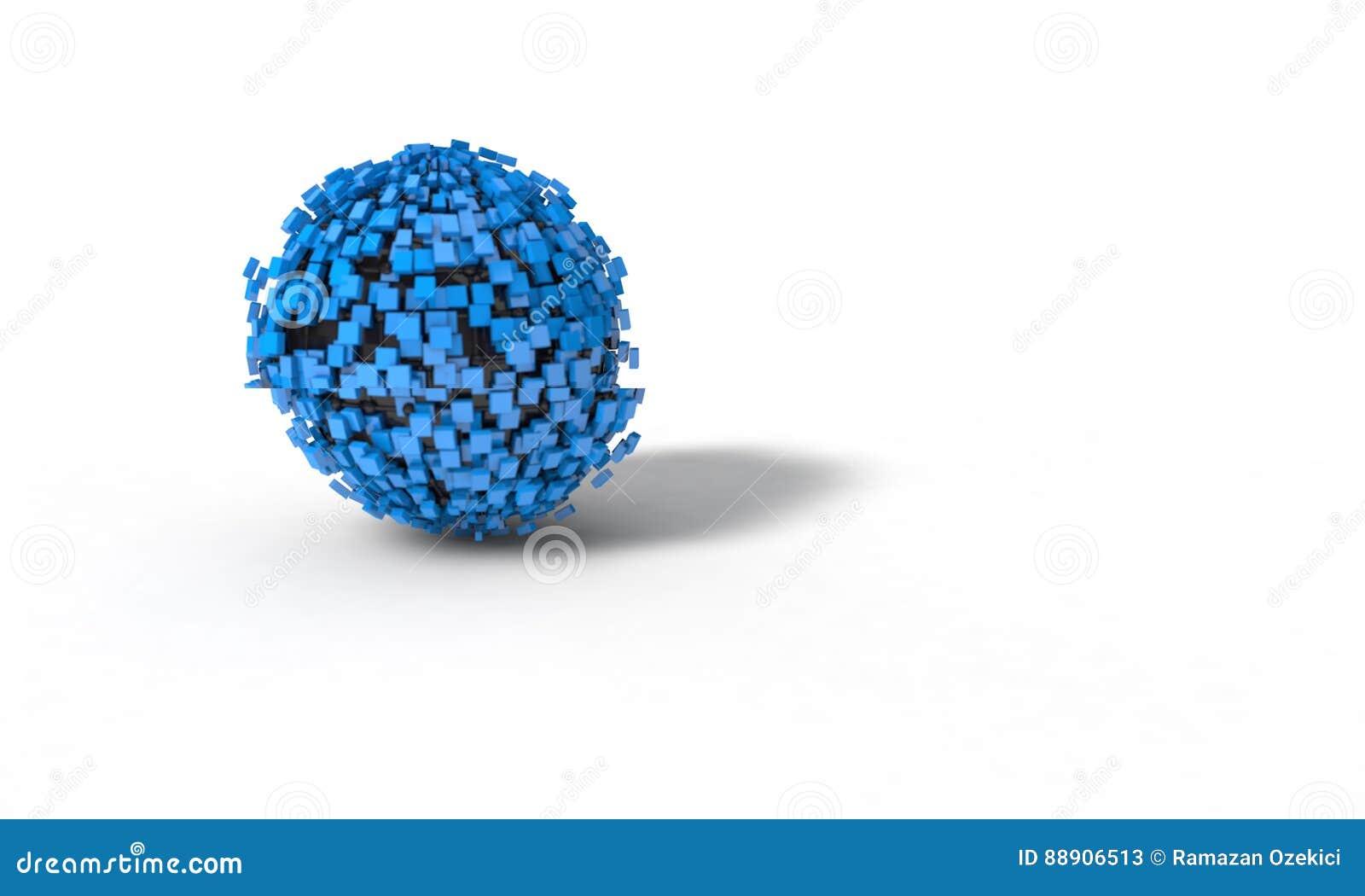 El fondo de la esfera abstracta, 3d rinde