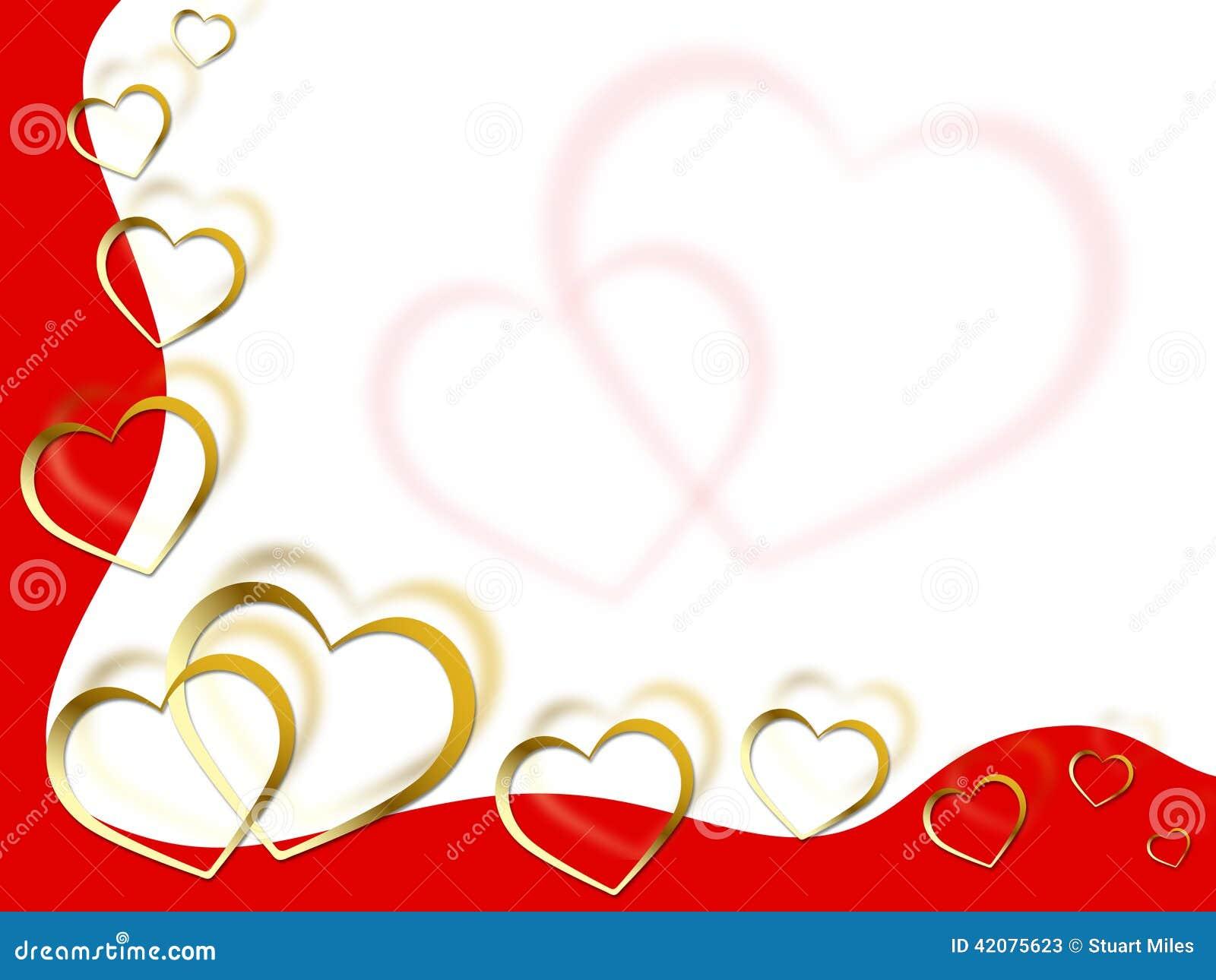 El Fondo De Los Corazones Significa Romance Y Rojo Del Socio De Las