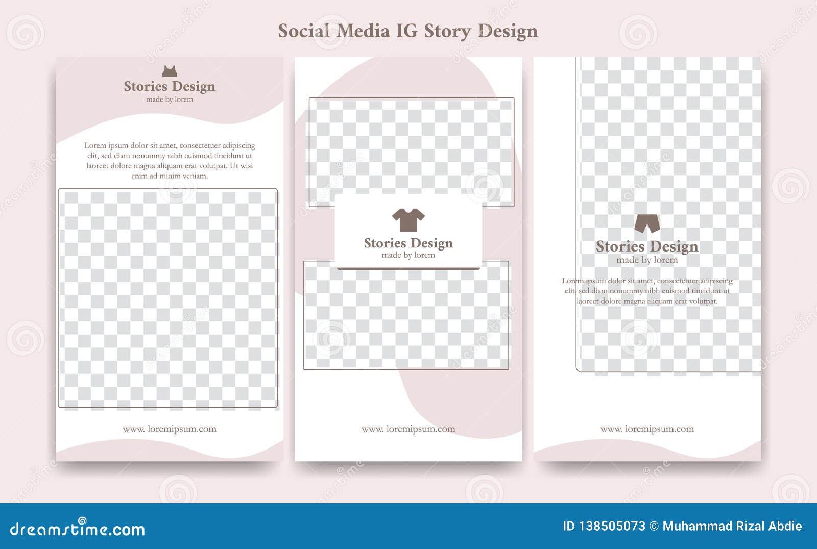 El fondo editable del marco del diseño de la plantilla de las historias del instagram del ig de los medios sociales en suavidad l