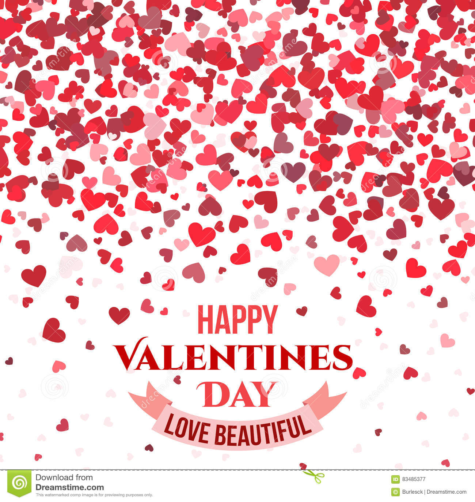 El Fondo Rojo Del Vector Del Día De San Valentín Con Los Corazones ...
