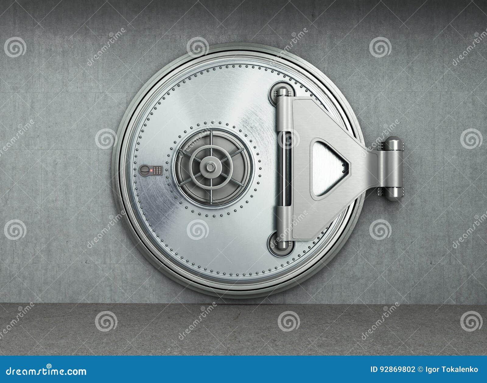El fondo seguro grande 3d de alta resolución de la puerta rinde