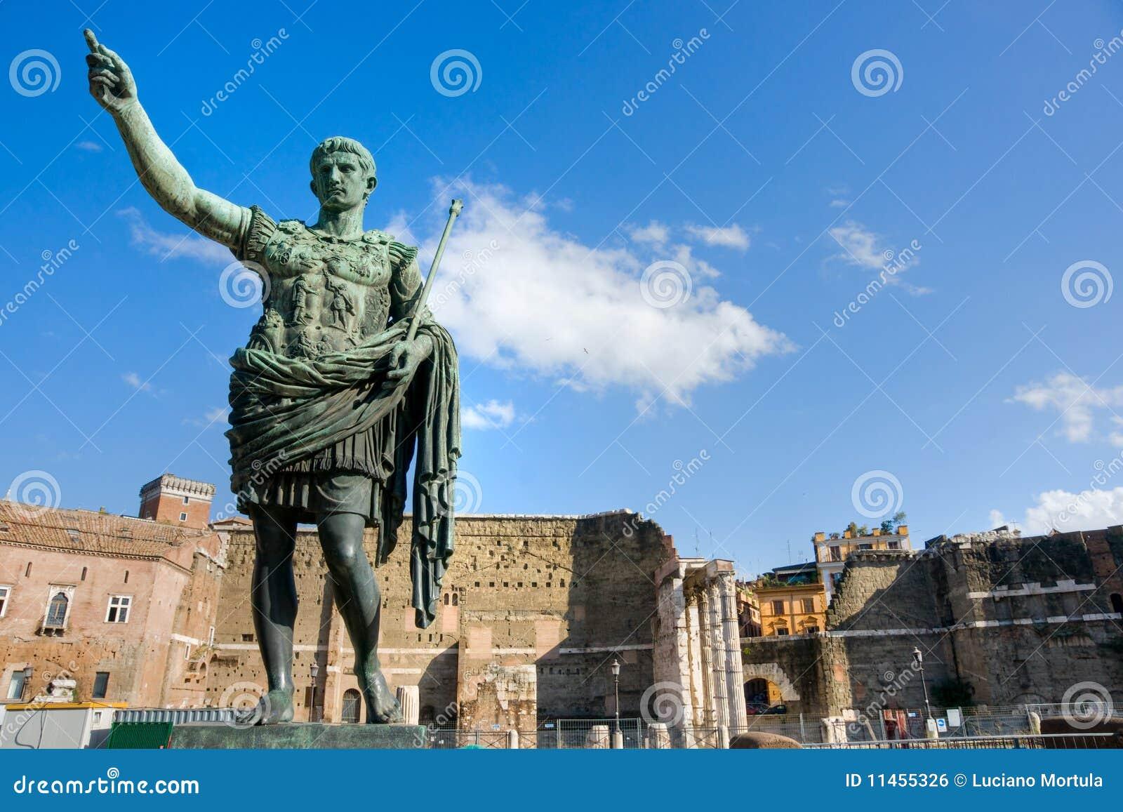 El foro de Trajan, Roma, Italia.