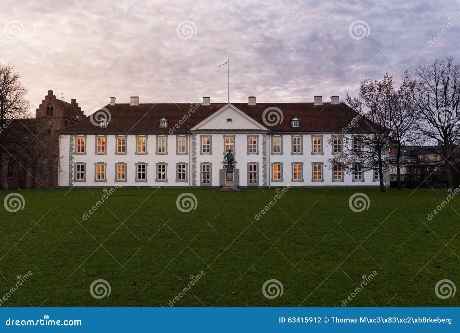 El frente de la ranura de Odense (castillo), Dinamarca