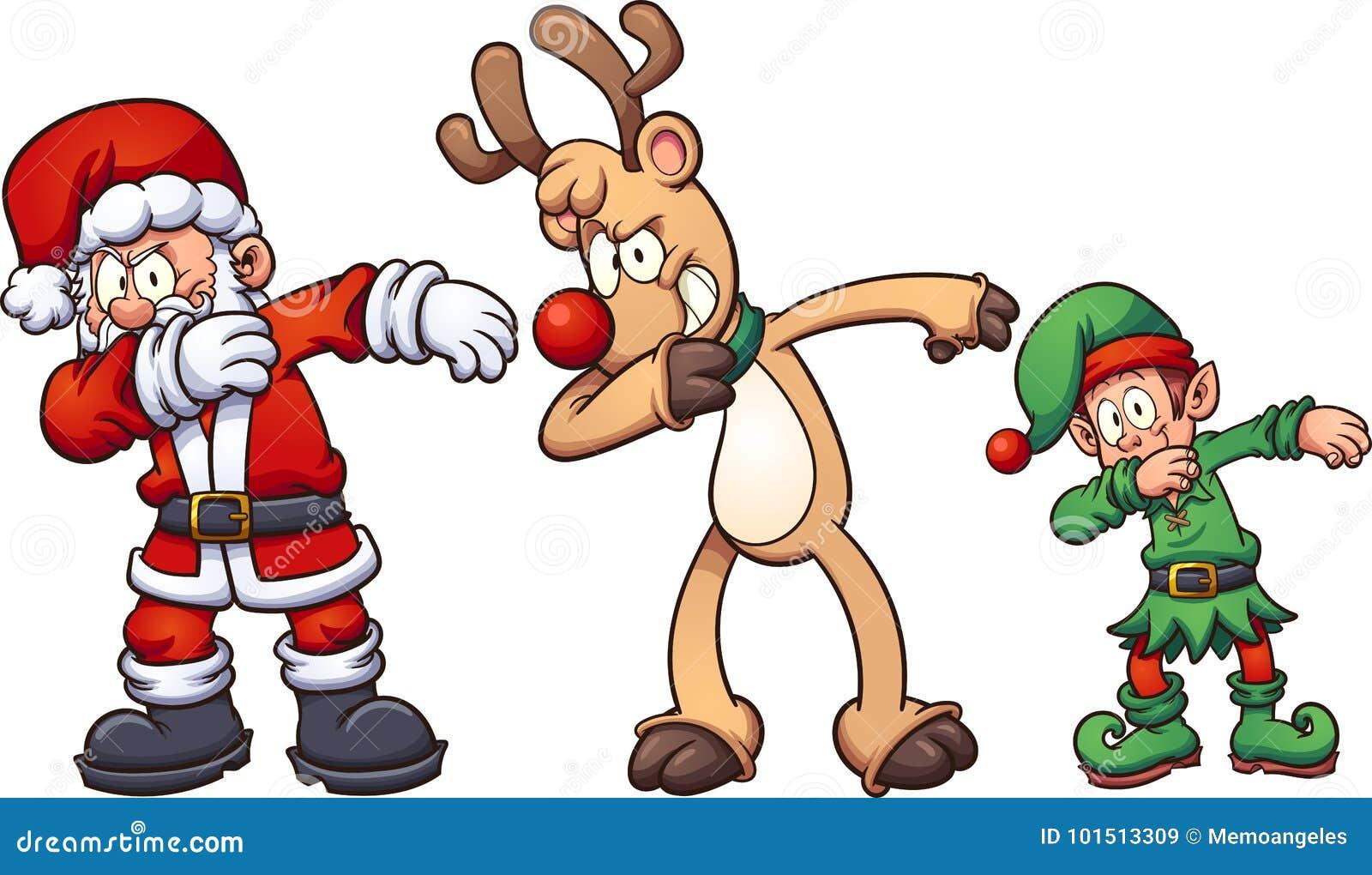 El frotar de la Navidad