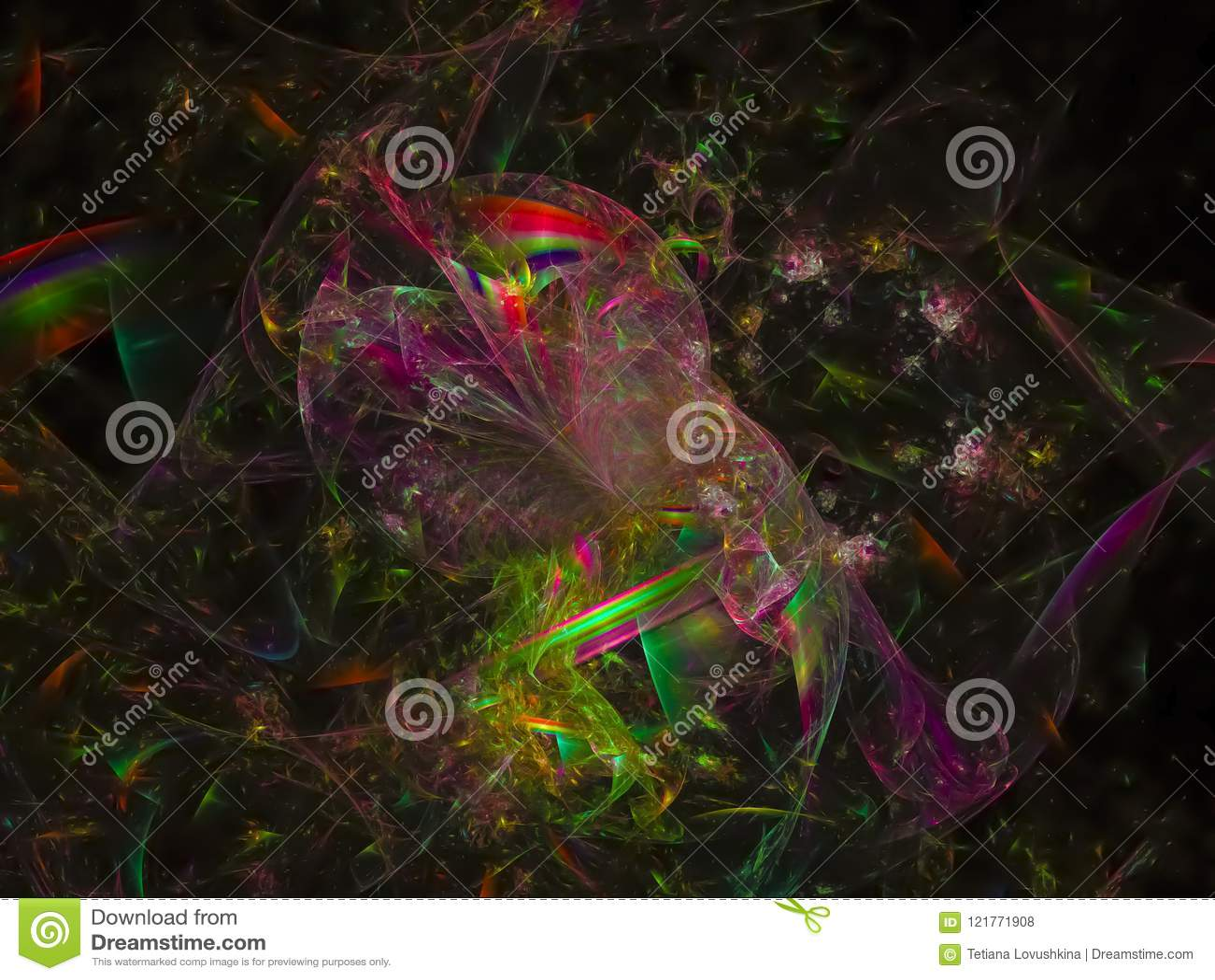 El futuro digital abstracto de la moda del fondo del fractal estalló el diseño moderno, energía, gráfico, fantasía
