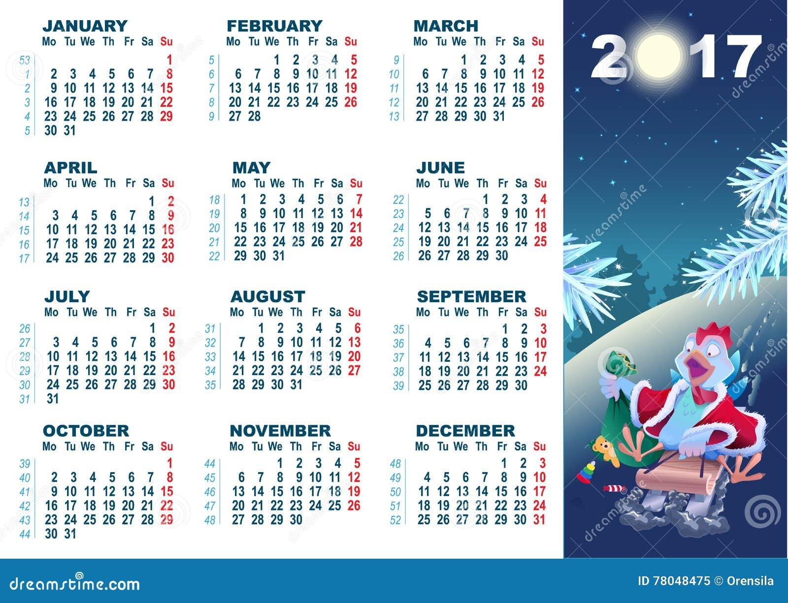 azul calendario gallo historieta navidad