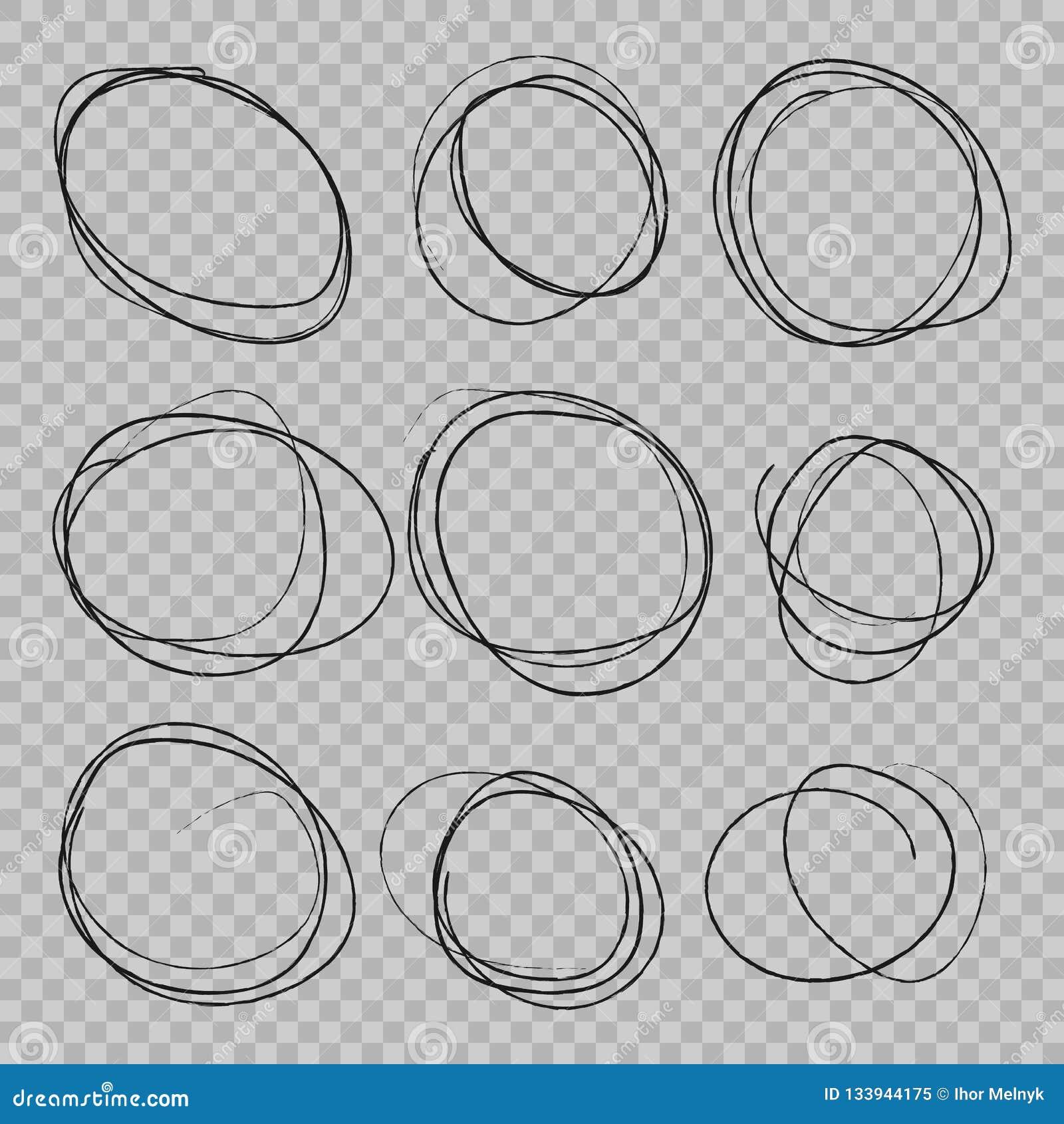 El garabato bosquejó círculos