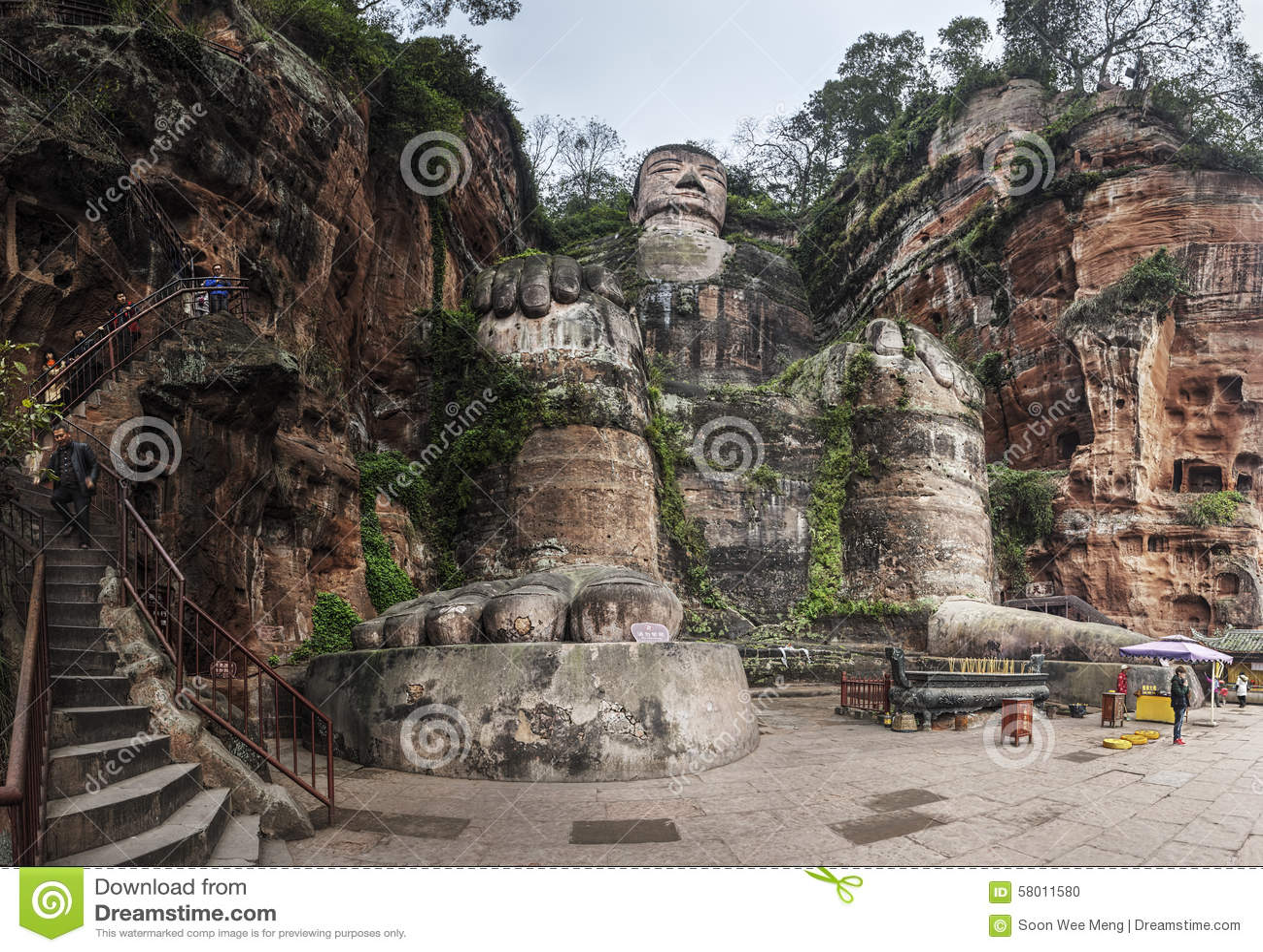 El gigante Buda de Leshan en Chengdu, China