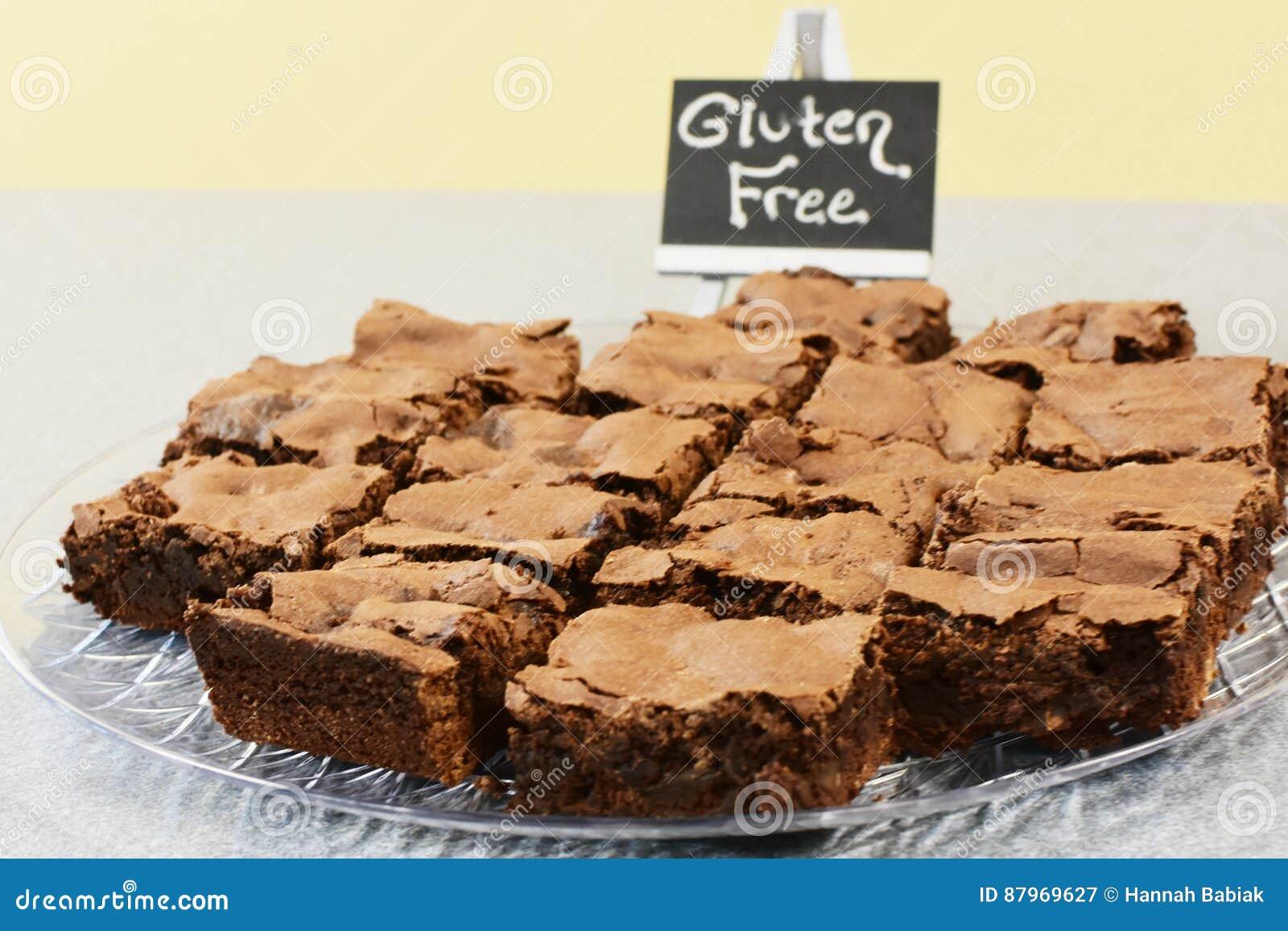 El gluten libera los brownie