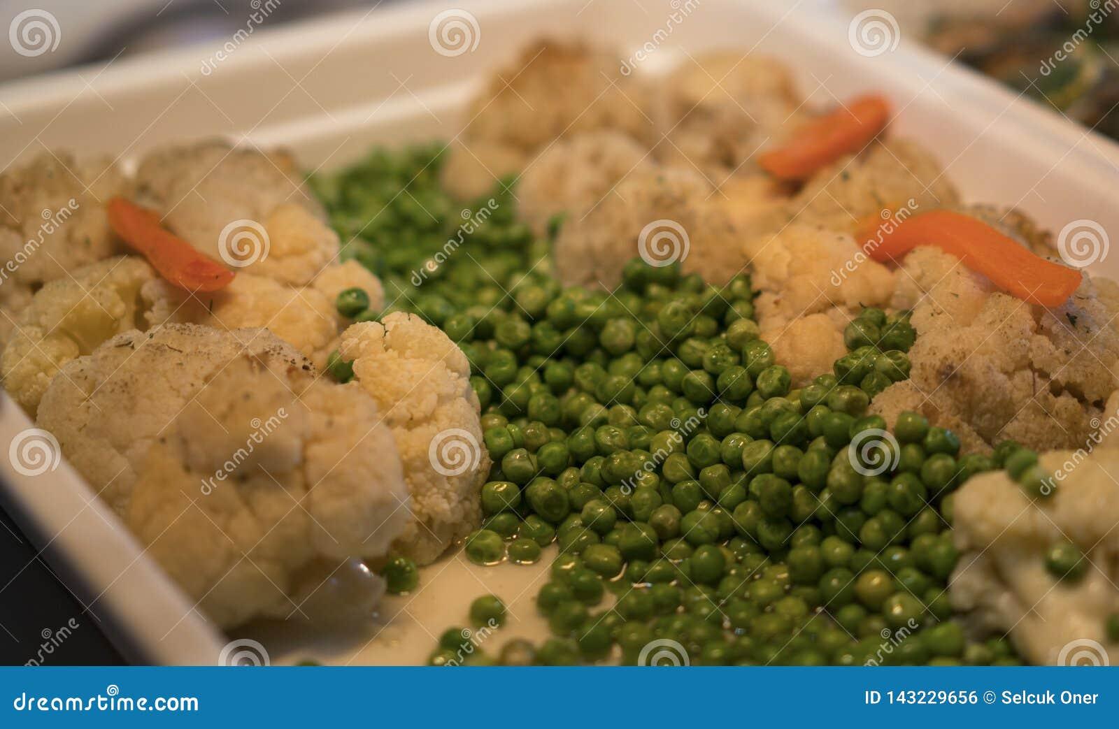 El guisante y la coliflor deliciosos