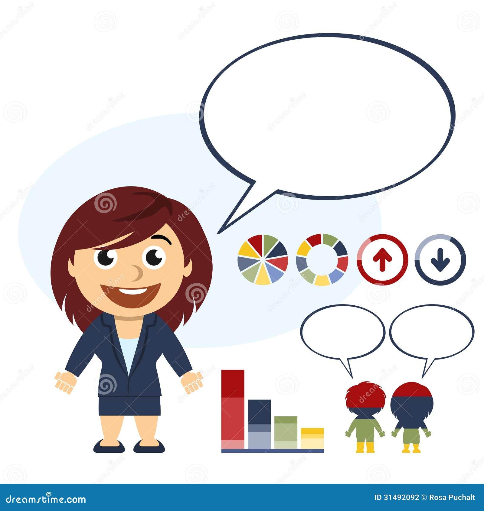 El hablar de la mujer de negocios
