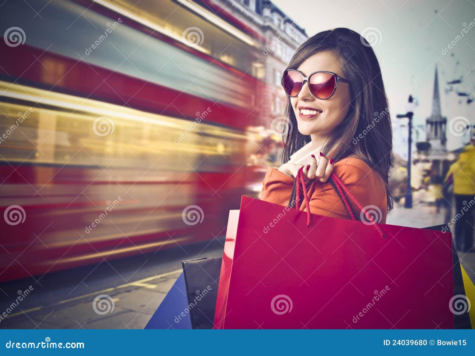 El hacer compras en Londres