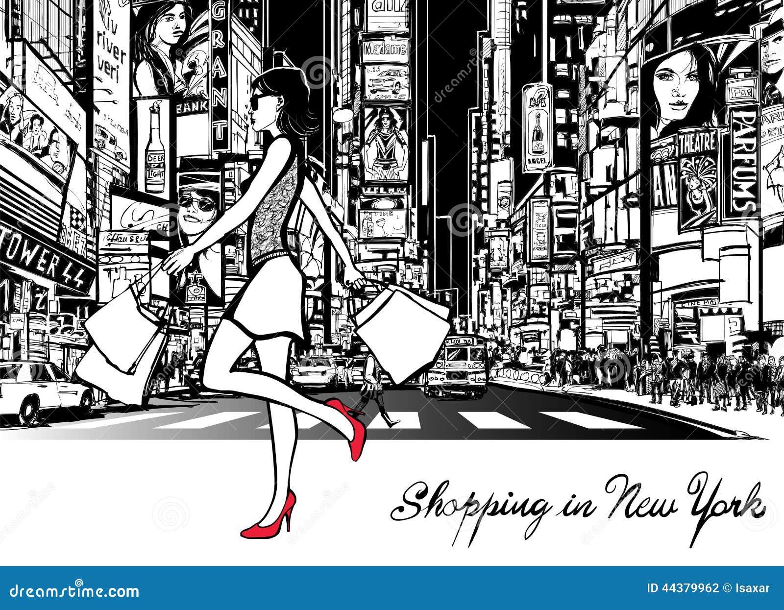 El hacer compras en Times Square - Nueva York