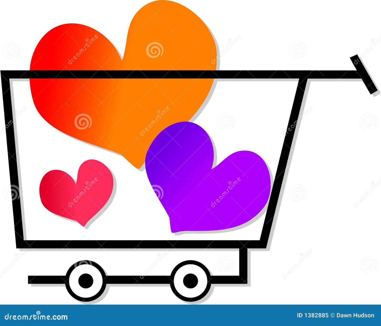 El hacer compras para el amor