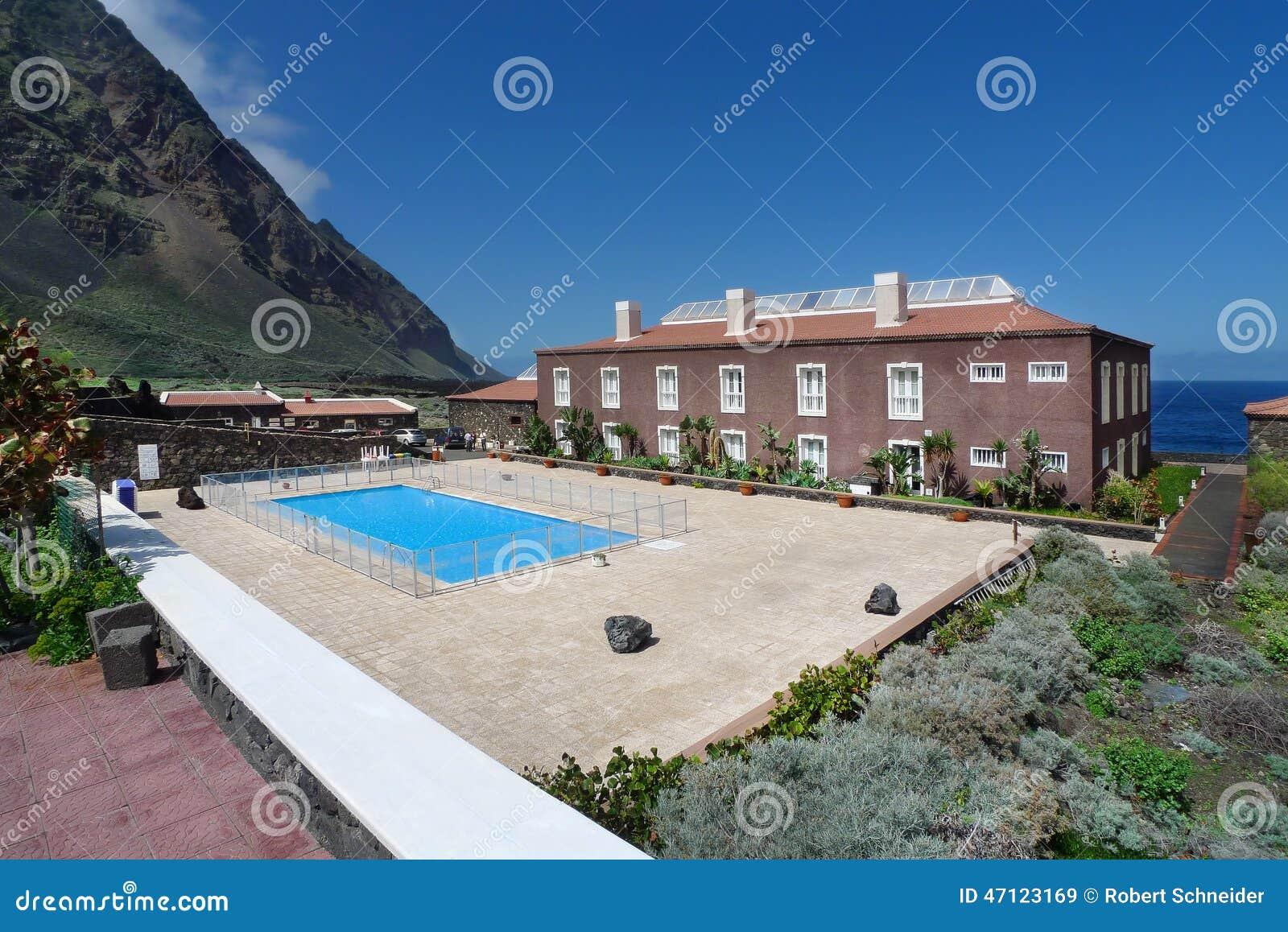 El hierro hotel in pozo de la salud stock image image - Balneario de la alameda ...