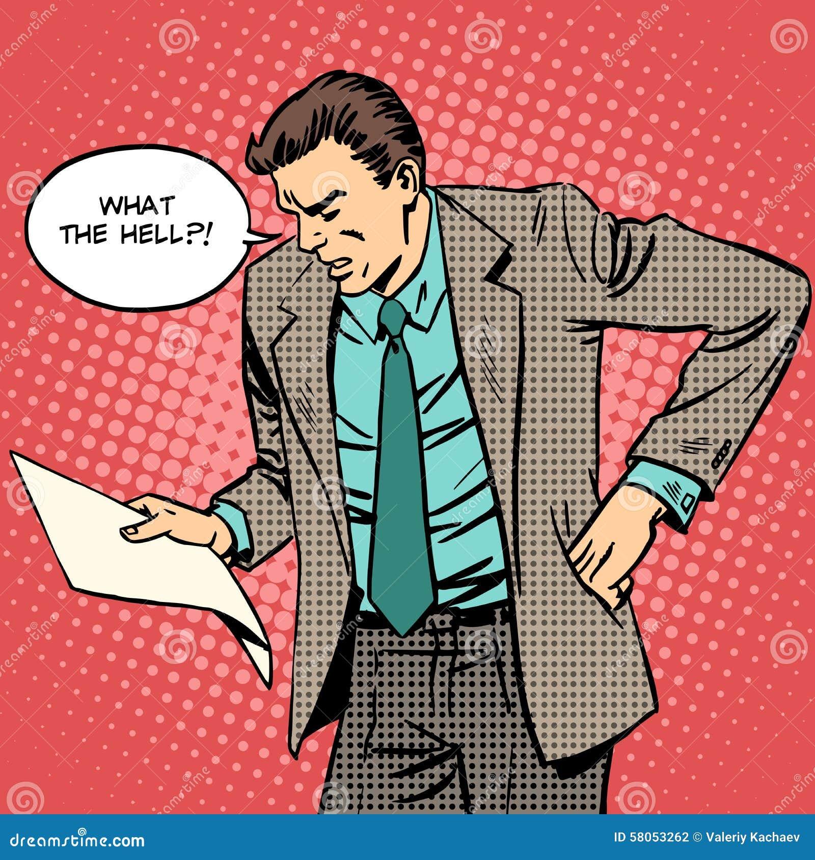 El hombre jura lee la letra de documento de papel