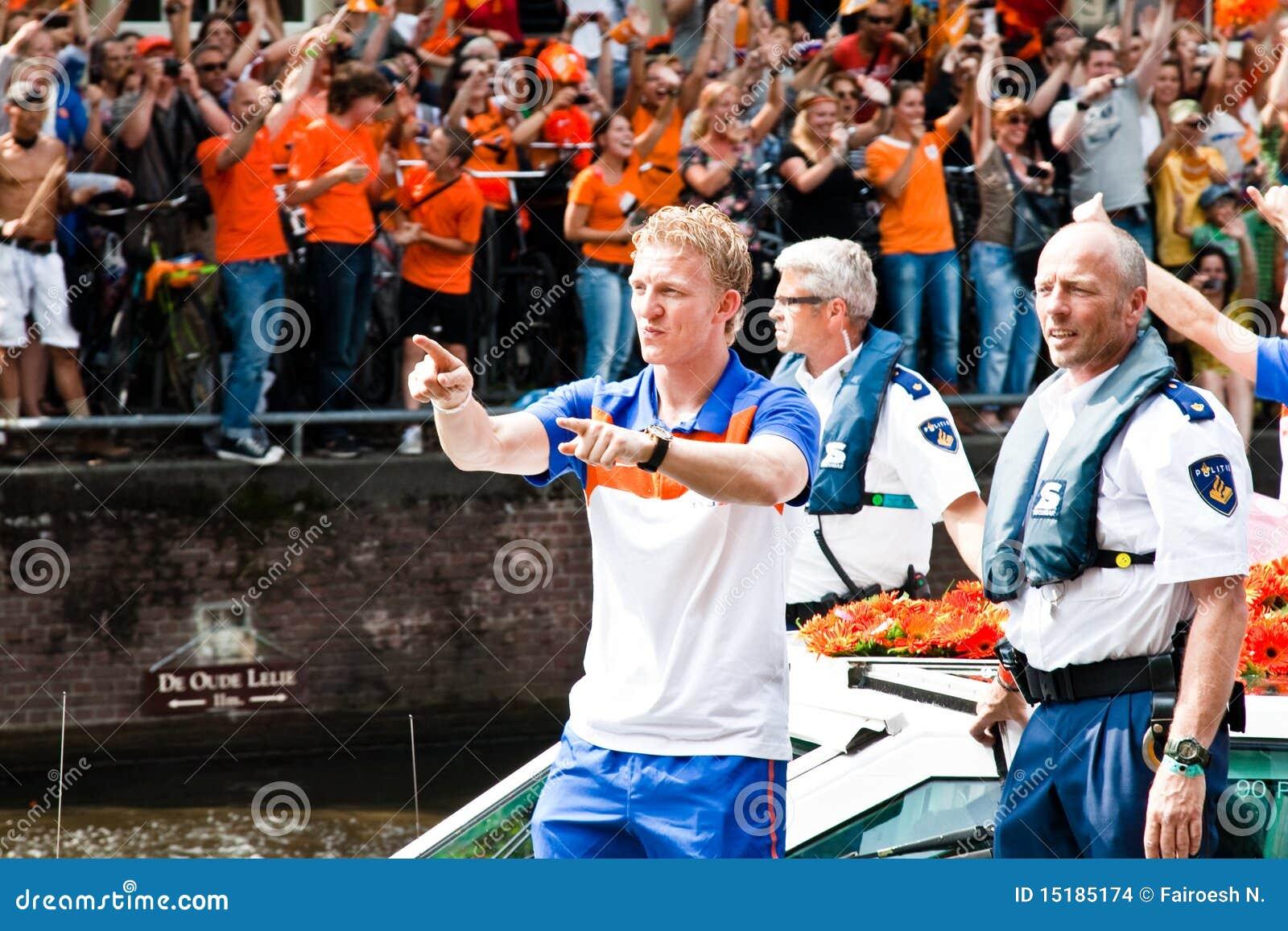 El honrar de las personas de fútbol holandesas