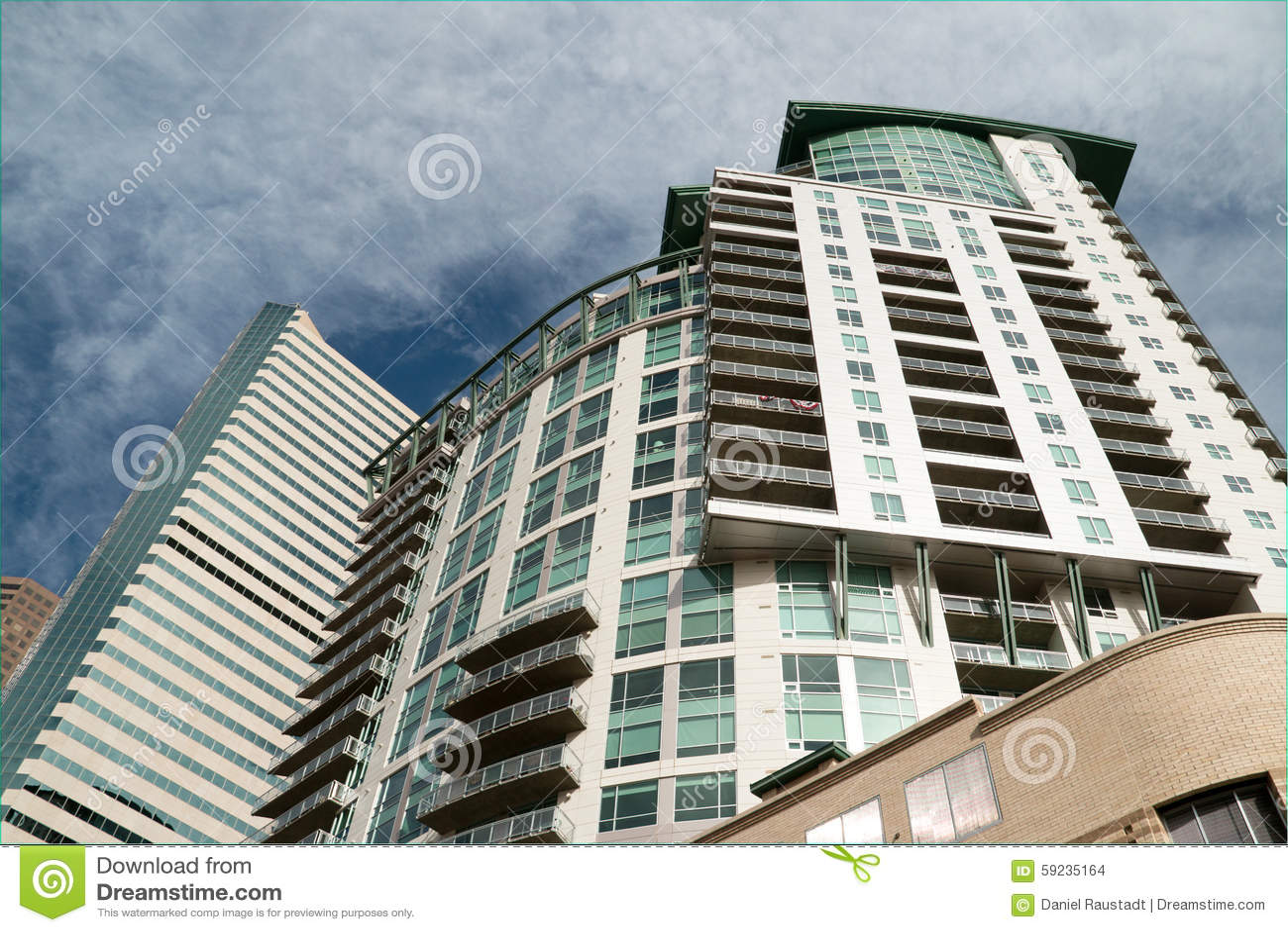Download El Horizonte Emergente De Denver, Colorado Foto de archivo - Imagen de apartamento, condos: 59235164