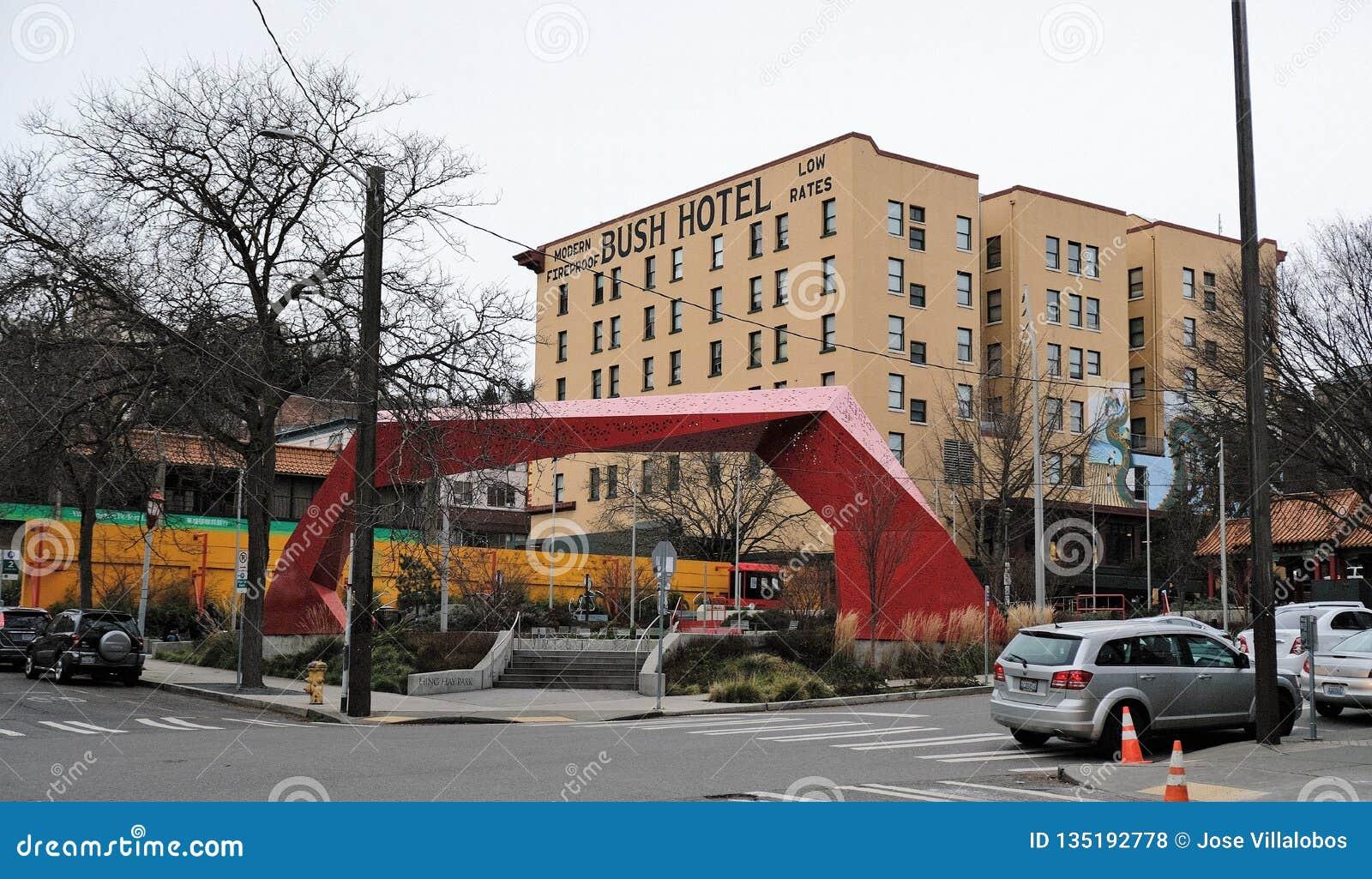 El hotel de Bush en Chinatown, Seattle, Washington