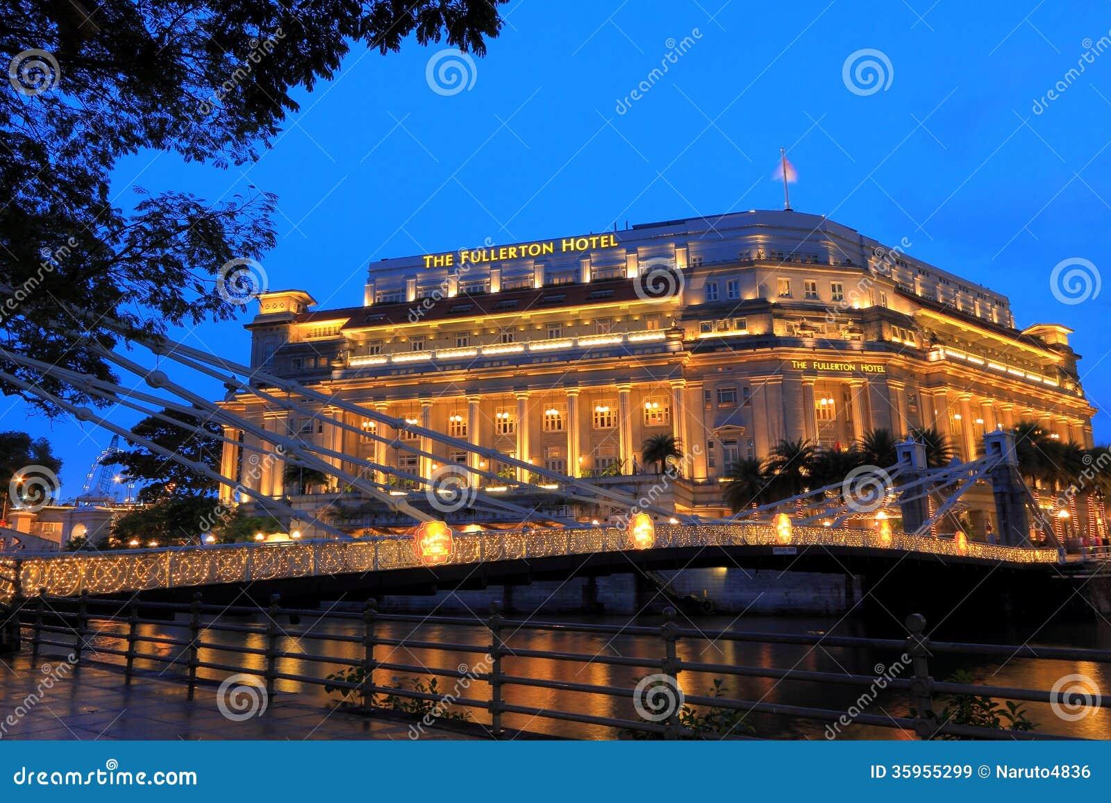 El hotel por la tarde, Singapur de Fullerton