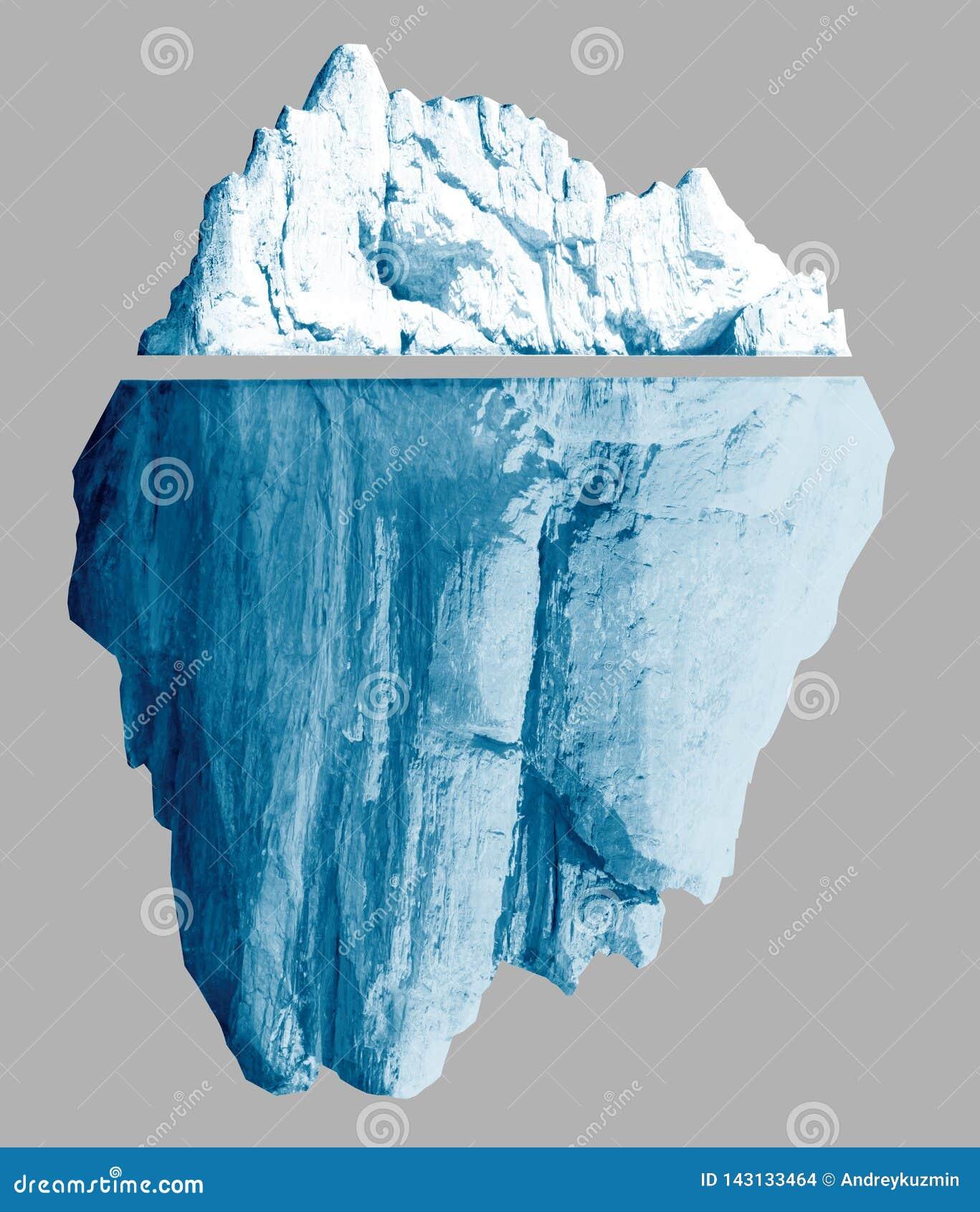 El iceberg aislado con las trayectorias de recortes incluyó el ejemplo 3d