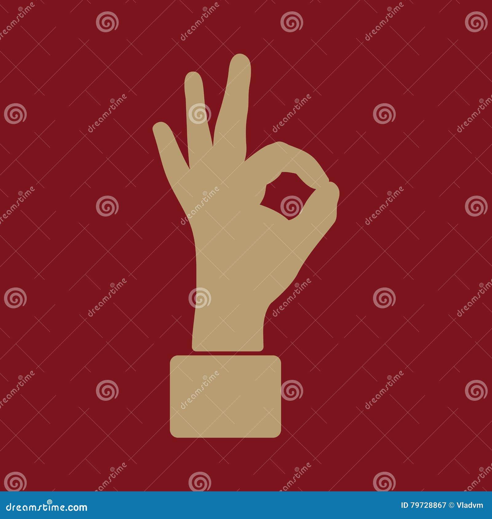 El icono ACEPTABLE Símbolo aceptable plano