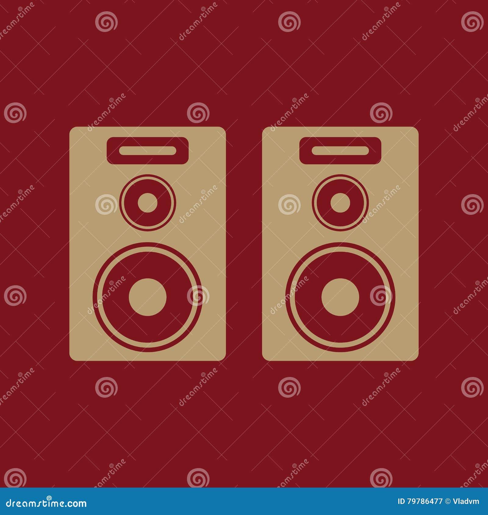 El icono audio Presidente y música, sonido, símbolo estéreo plano