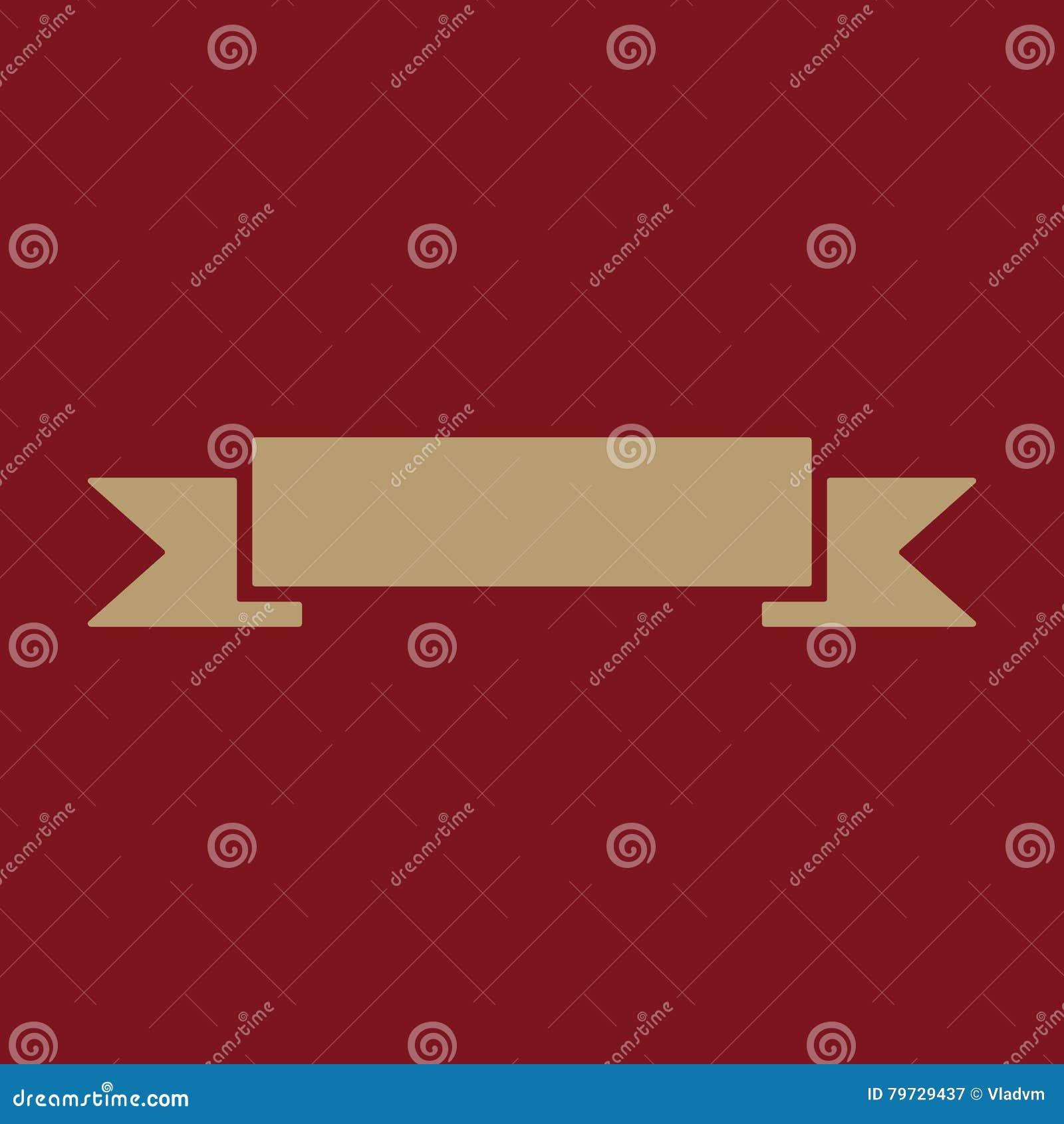 El icono de la bandera Símbolo de la cinta plano