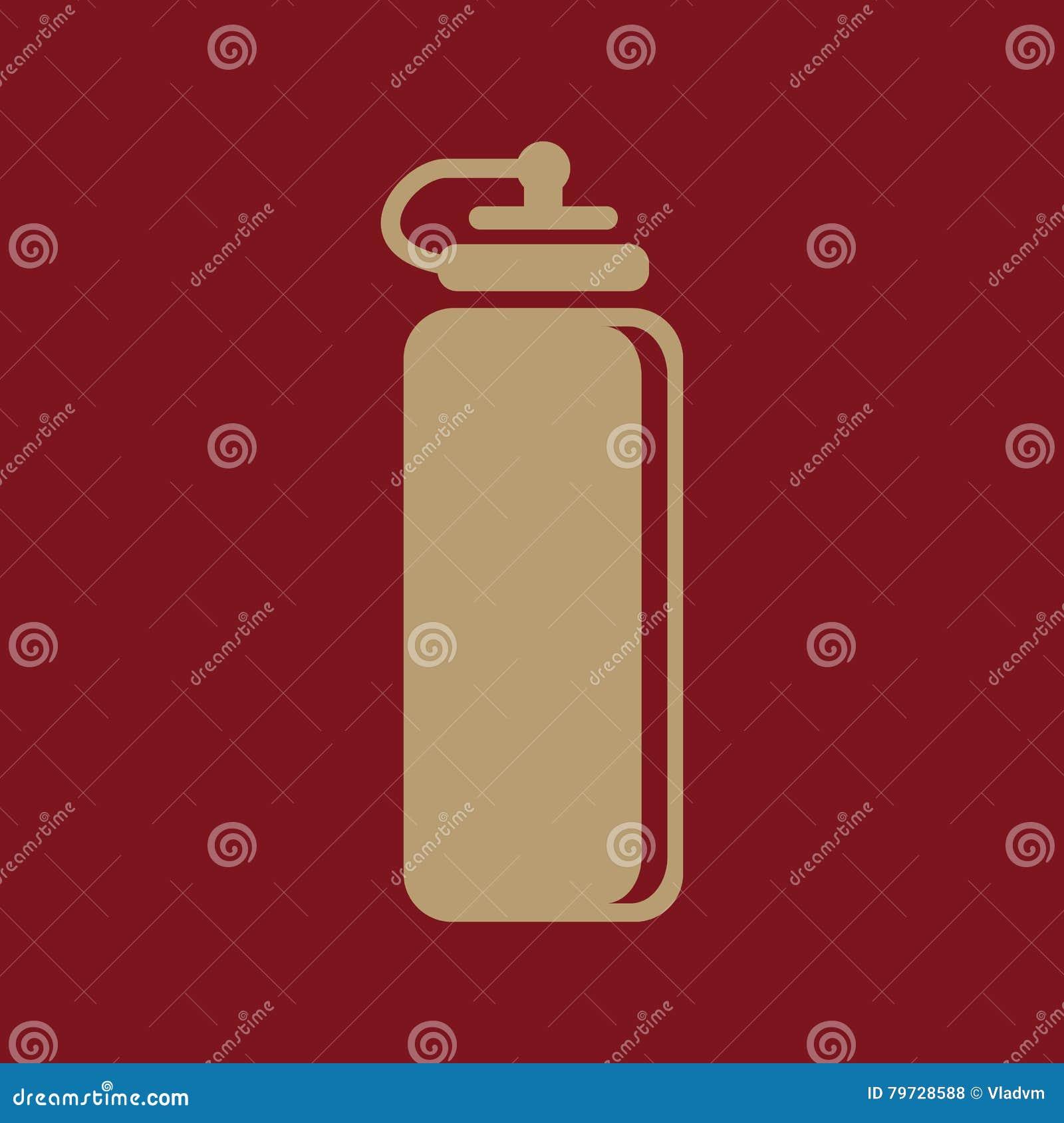El icono de la botella de agua de los deportes Símbolo de la botella plano
