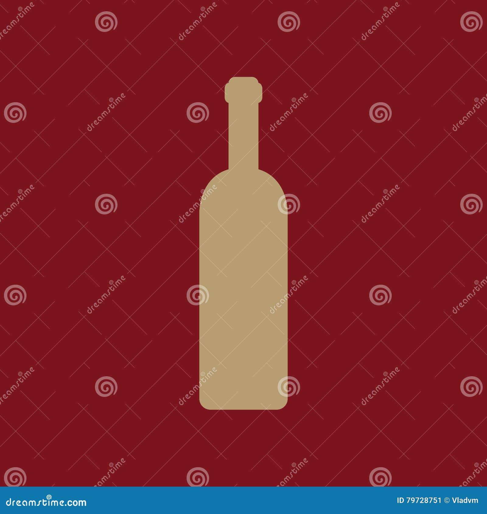 El icono de la botella de vino Símbolo de la botella plano