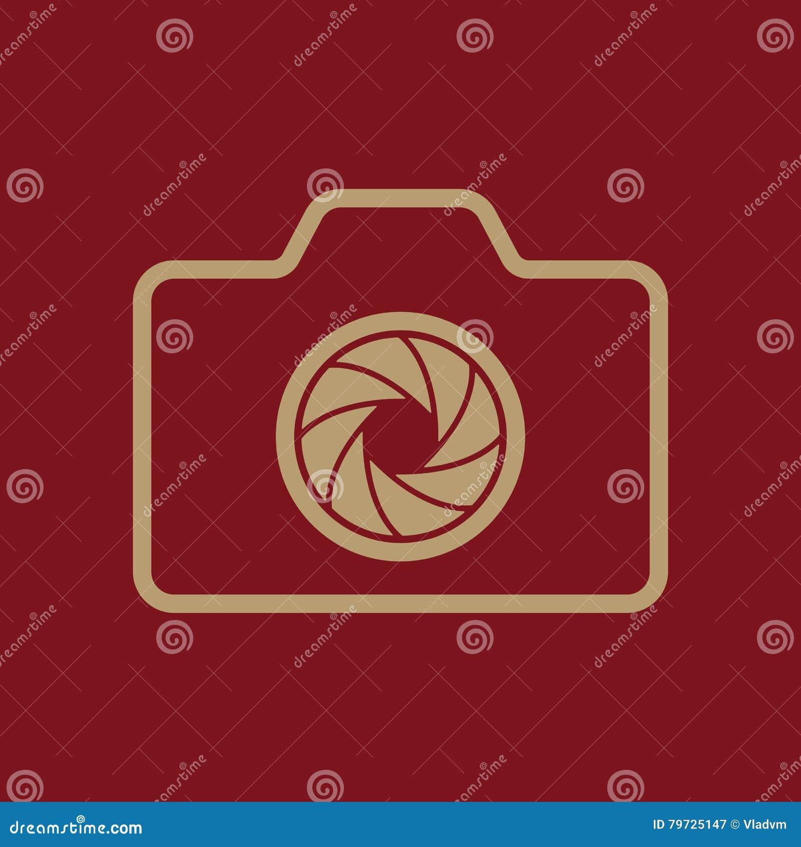 El icono de la cámara Símbolo de la foto plano