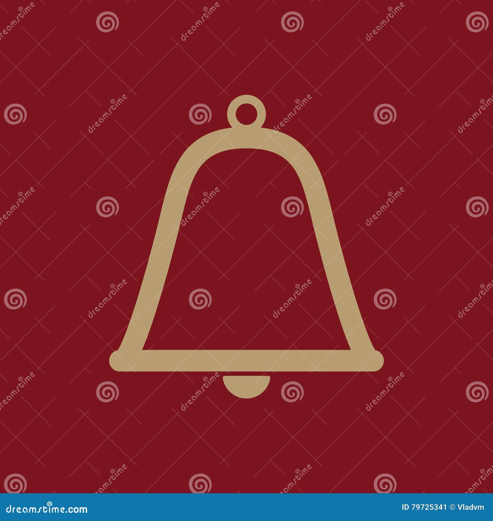 El icono de la campana Símbolo alerta plano