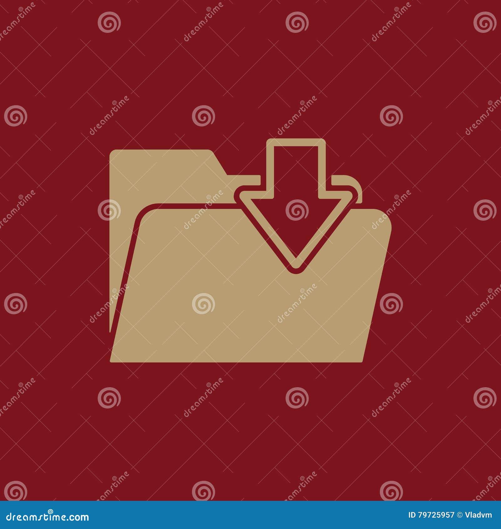 El icono de la carpeta Símbolo de la transferencia directa del fichero plano