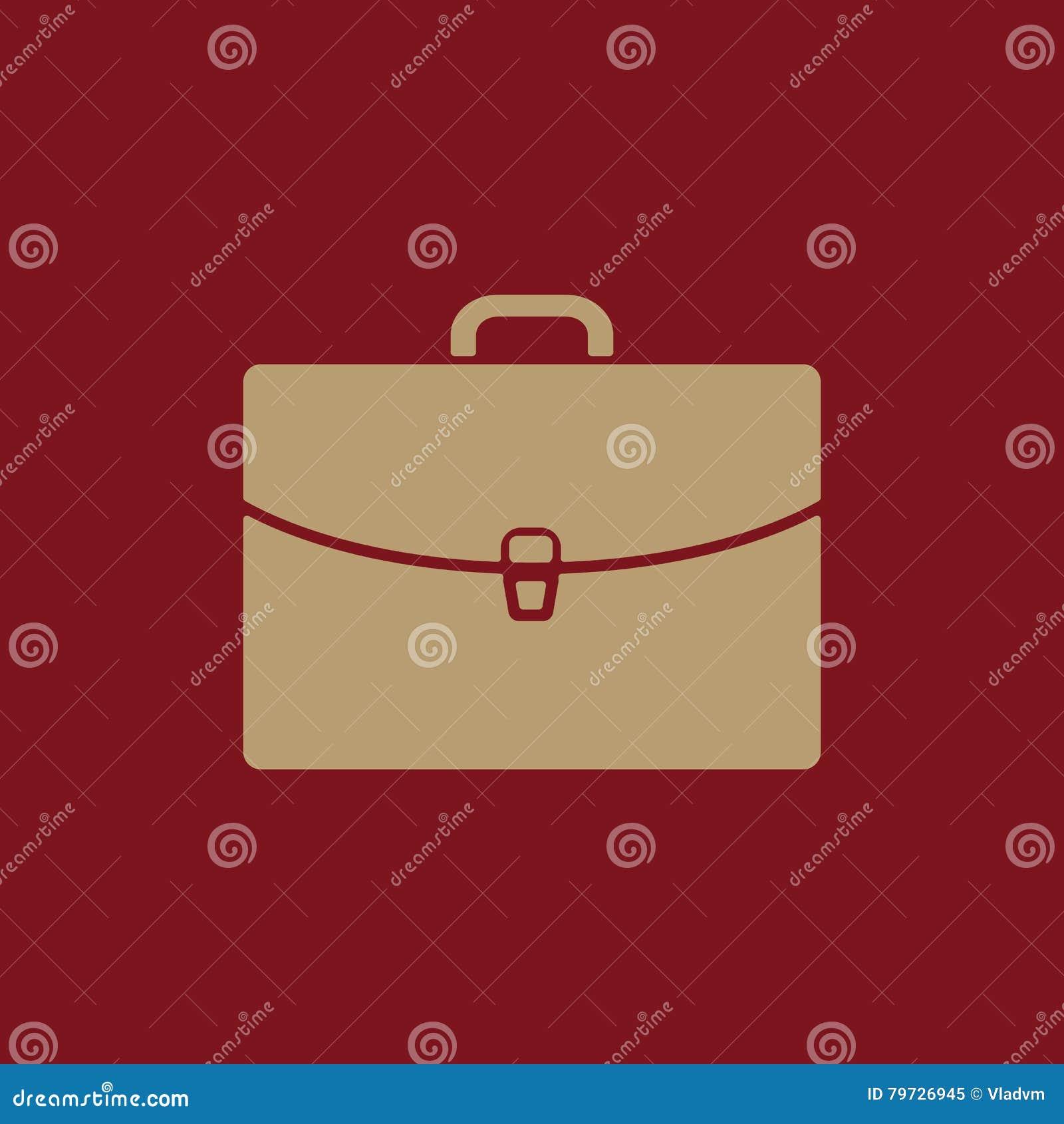 El icono de la cartera Símbolo de la cartera plano