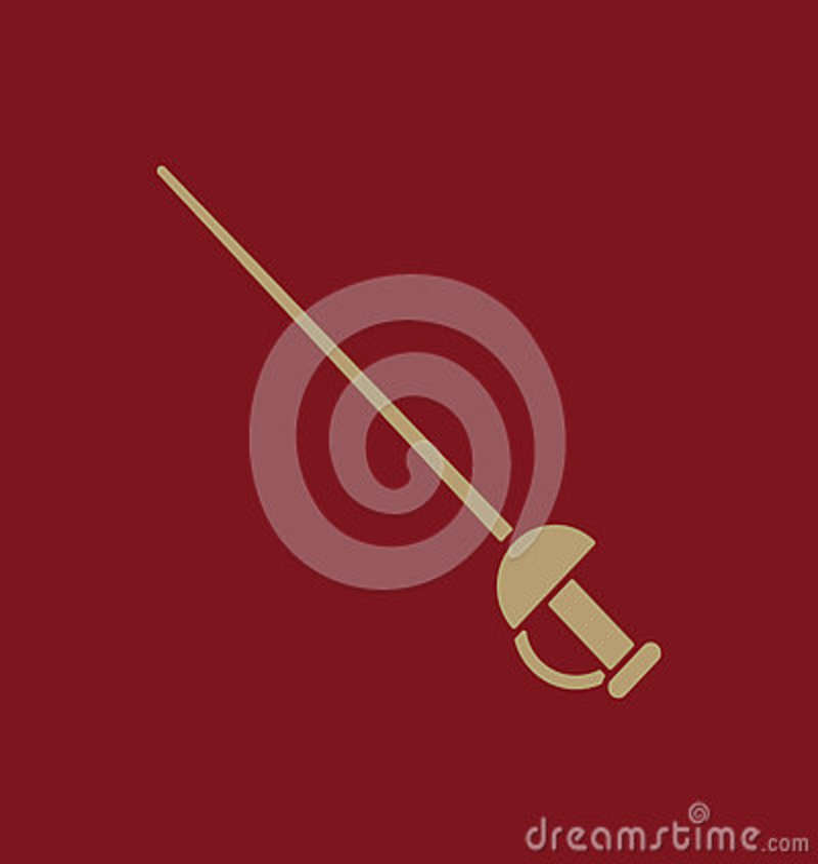El icono de la espada Símbolo de la espada plano