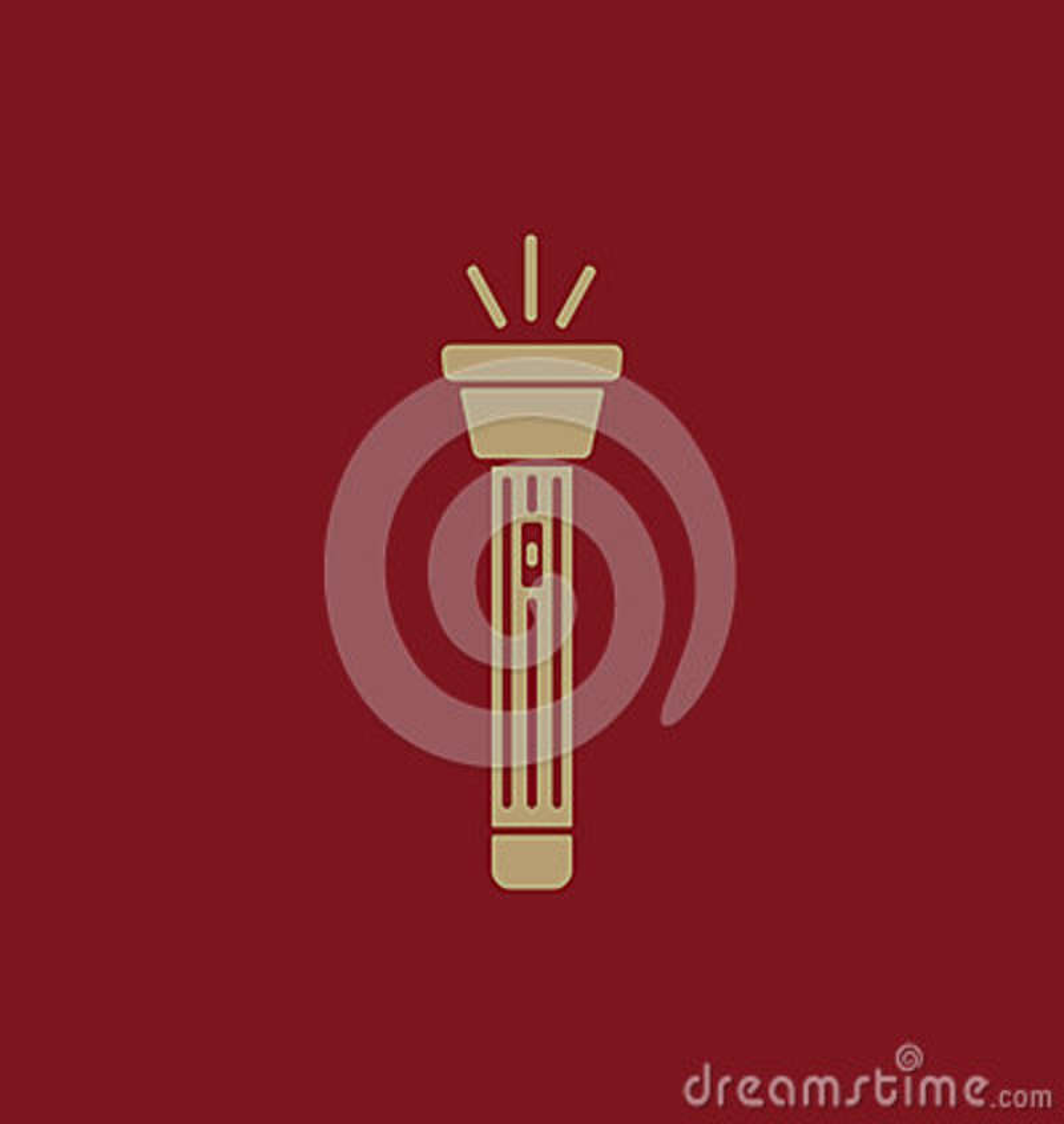 El icono de la linterna Símbolo de la antorcha plano