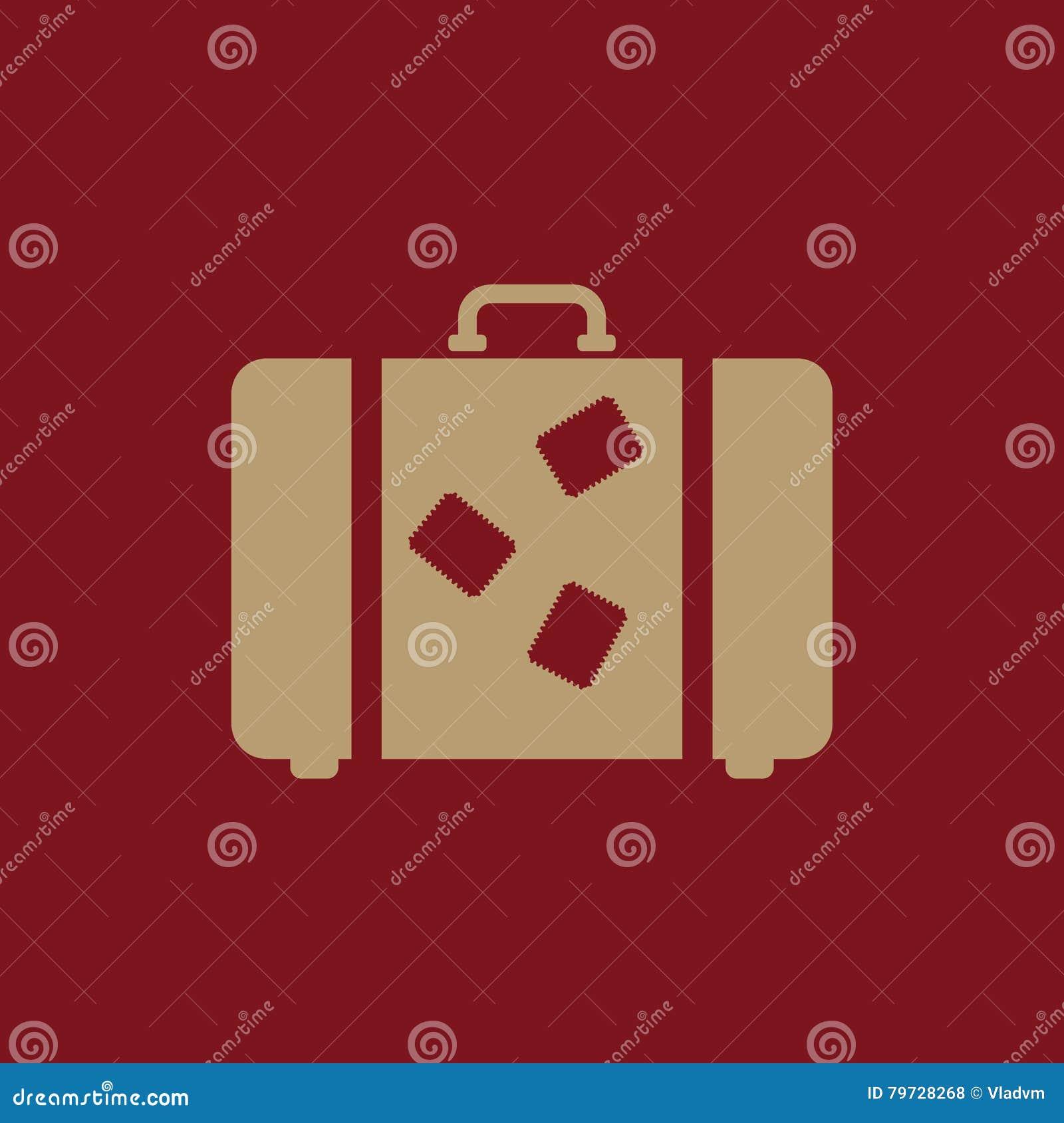 El icono de la maleta Símbolo del equipaje plano