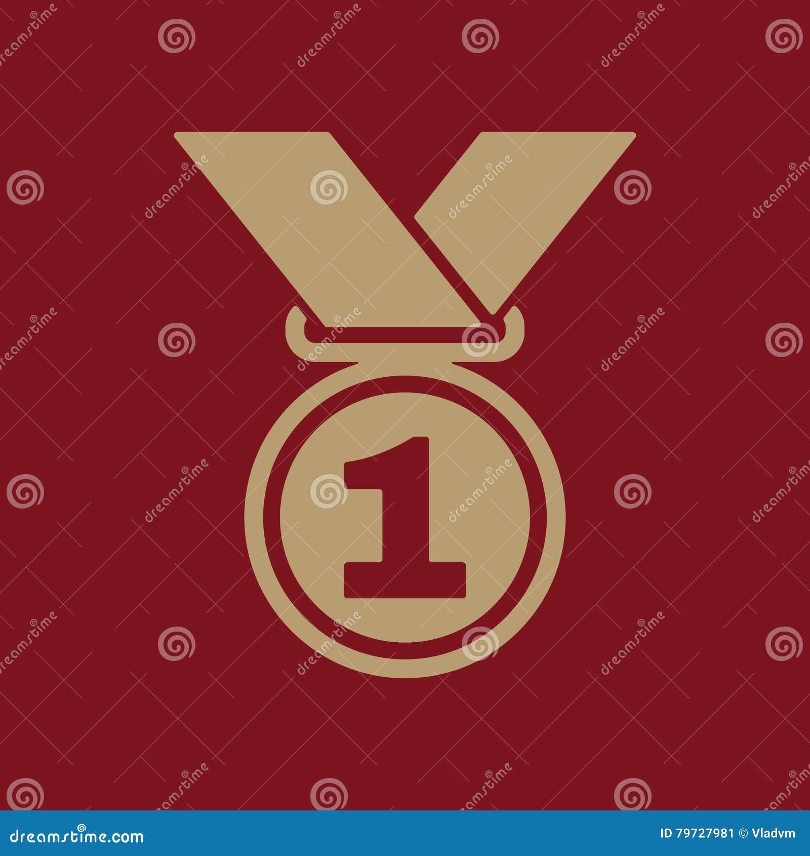 El icono de la medalla Símbolo premiado plano