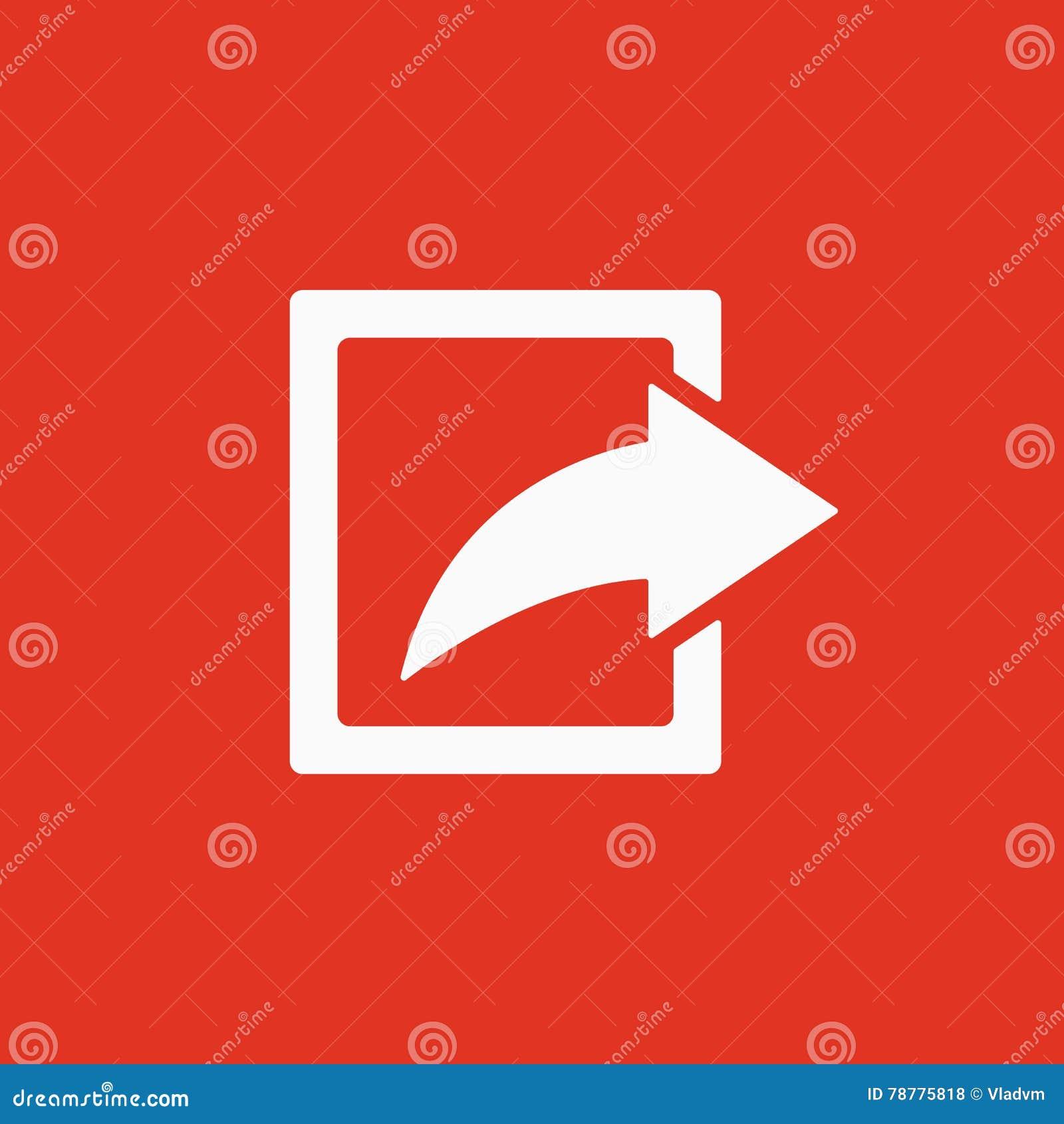 El icono de la parte Símbolo de la acción plano