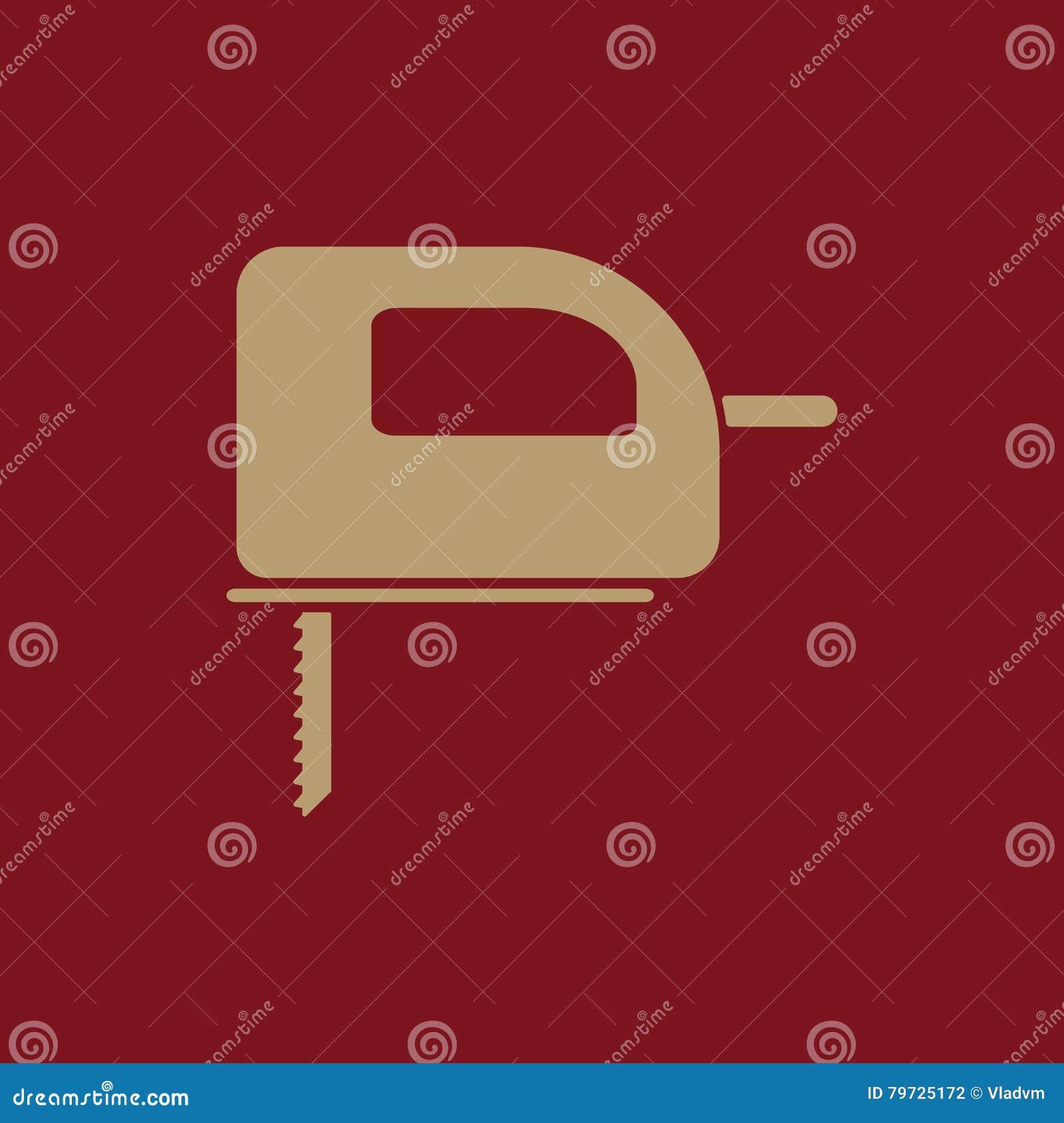 El icono de la segueta Símbolo de la segueta plano